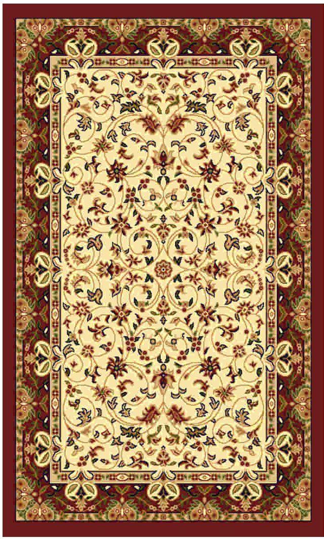 Ковер Kamalak tekstil, прямоугольный, цвет: кремовый, 80 x 150 см. УК-0151УК-0151Ковры-паласы выполнены из полипропилена. Ковры обладают хорошими показателями теплостойкости и шумоизоляции. Являются гиппоалергенными. За счет невысокого ворса ковры легко чистить. Вам придется по душе широкая гамма цветов и возможность гармонично оформить интерьер. Практичный и устойчивый к износу ворс - от постоянного хождения не истирается, не накапливает статическое электричество. Структура волокна в полипропиленовых моделях гладкая, поэтому грязь не может выесться, на ворсе она скапливается с трудом. Полипропилен не впитывает влагу, отталкивает водянистые пятна. Уход: Самый простой способ избавить изделие от грязи – пропылесосить его с обеих сторон (лицевой и изнаночной). Влажная уборка с применением шампуней и моющих средств не противопоказана. Если шерсти и шёлку универсальные чистящие составы не подходят, то для синтетики они придутся в самый раз. Хранить их нужно рулоном, не складывая «салфеткой». При надлежащем уходе синтетический ковёр прослужит долго, не утратив ни...