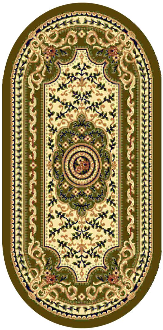 Ковер Kamalak tekstil, овальный, цвет: кремовый, 100 x 150 см. УК-0407УК-0407Ковры-паласы выполнены из полипропилена. Ковры обладают хорошими показателями теплостойкости и шумоизоляции. Являются гиппоалергенными. За счет невысокого ворса ковры легко чистить. Вам придется по душе широкая гамма цветов и возможность гармонично оформить интерьер. Практичный и устойчивый к износу ворс - от постоянного хождения не истирается, не накапливает статическое электричество. Структура волокна в полипропиленовых моделях гладкая, поэтому грязь не может выесться, на ворсе она скапливается с трудом. Полипропилен не впитывает влагу, отталкивает водянистые пятна. Уход: Самый простой способ избавить изделие от грязи – пропылесосить его с обеих сторон (лицевой и изнаночной). Влажная уборка с применением шампуней и моющих средств не противопоказана. Если шерсти и шёлку универсальные чистящие составы не подходят, то для синтетики они придутся в самый раз. Хранить их нужно рулоном, не складывая «салфеткой». При надлежащем уходе синтетический ковёр прослужит долго, не утратив ни...