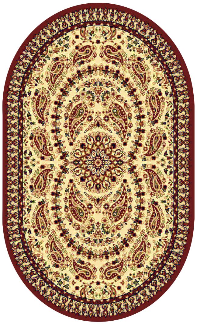 Ковер Kamalak tekstil, овальный, 80 x 150 см. УК-0188УК-0188Ковер Kamalak Tekstil изготовлен из прочного синтетического материала heat-set, улучшенного варианта полипропилена (эта нить получается в результате его дополнительной обработки). Полипропилен износостоек, нетоксичен, не впитывает влагу, не провоцирует аллергию. Структура волокна в полипропиленовых коврах гладкая, поэтому грязь не будет въедаться и скапливаться на ворсе. Практичный и износоустойчивый ворс не истирается и не накапливает статическое электричество. Ковер обладает хорошими показателями теплостойкости и шумоизоляции. Оригинальный рисунок позволит гармонично оформить интерьер комнаты, гостиной или прихожей. За счет невысокого ворса ковер легко чистить. При надлежащем уходе синтетический ковер прослужит долго, не утратив ни яркости узора, ни блеска ворса, ни упругости. Самый простой способ избавить изделие от грязи - пропылесосить его с обеих сторон (лицевой и изнаночной). Влажная уборка с применением шампуней и моющих средств не противопоказана. ...