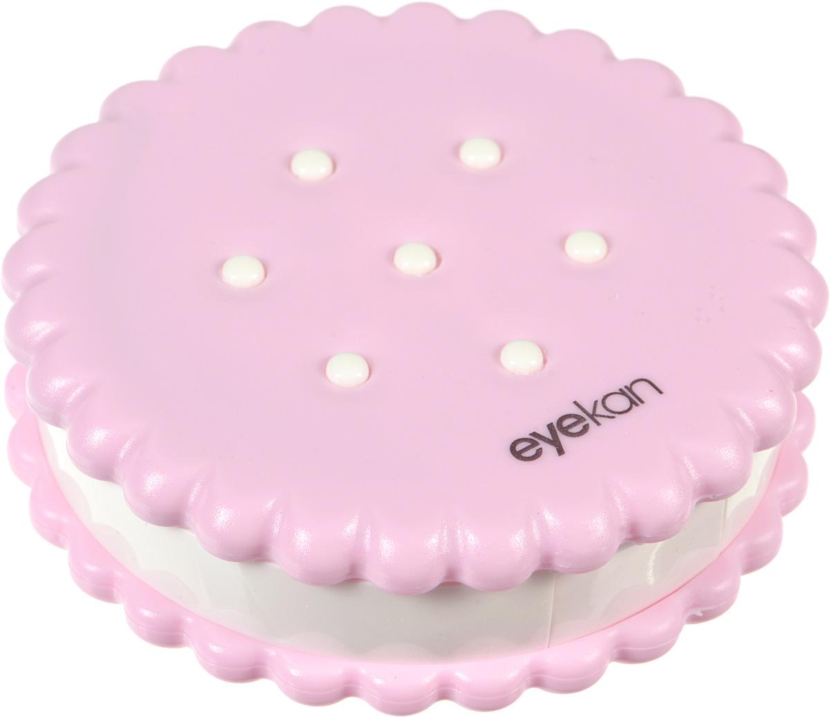 Контейнер для контактных линз Kawaii Factory Cookie, цвет: розовый. KW007-000114KW007-000114Если вам очень хочется окружить себя яркими красивыми вещами, то контейнер для контактных линз Cookie от Kawaii Factory как ничто другое поможет справиться с этой задачей. Контейнер выглядит, как аппетитный десерт, и будет приносить радость и поднимать настроение. В этой забавной печенюшке прекрасно помещается все необходимое для ухода: раздельные контейнеры под линзы, зеркало, пинцет, палочка с мягким наконечником и флакон для раствора. Корпус изделия выполнен из пластика и закрывается на удобную защелку, он надежно сбережет ваши линзы от неприятных повреждений. Для удобства использования емкости контейнера обозначены буквами L и R.