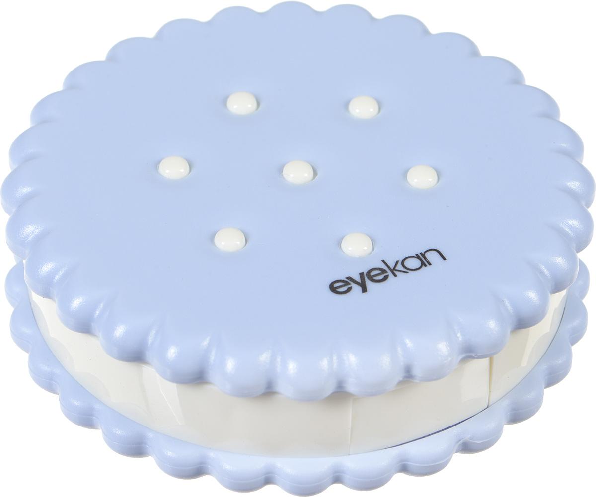 Контейнер для контактных линз Kawaii Factory Cookie, цвет: голубой. KW007-000116KW007-000116Если вам очень хочется окружить себя яркими красивыми вещами, то контейнер для контактных линз Cookie от Kawaii Factory, как ничто другое поможет справиться с этой задачей. Контейнер выглядит, как аппетитный десерт, и будет приносить радость и поднимать настроение. В этой забавной печенюшке прекрасно помещается все необходимое для ухода: раздельные контейнеры под линзы, зеркало, пинцет, палочка с мягким наконечником и флакон для раствора. Корпус изделия выполнен из пластика и закрывается на удобную защелку, он надежно сбережет ваши линзы от неприятных повреждений. Для удобства использования емкости контейнера обозначены буквами L и R.