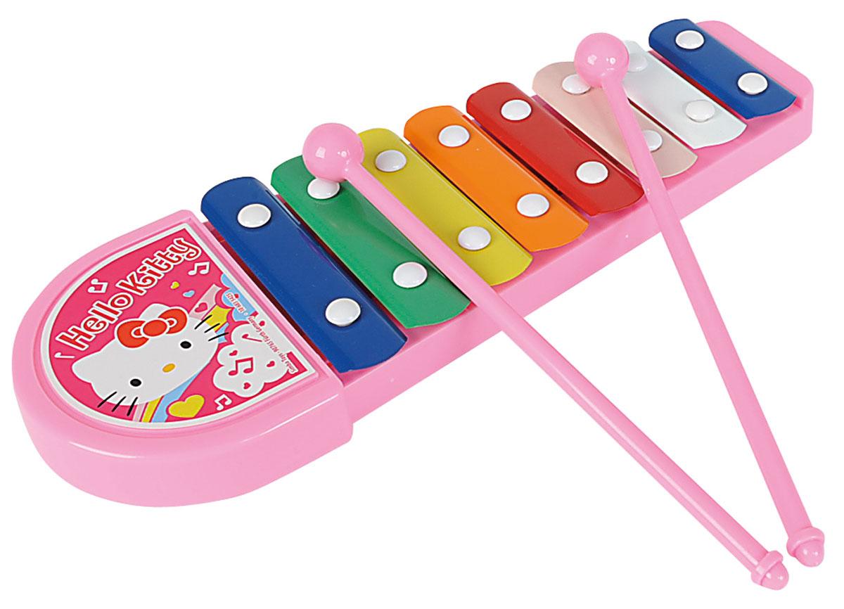 Simba Ксилофон Hello Kitty6835425Ксилофон Simba Hello Kitty обязательно понравится вашей малышке. Ксилофон выполнен из качественного пластика с металлическими пластинами и украшен изображением кошечки Китти. В комплекте с ксилофоном идут две ударные палочки, с помощью которых можно извлекать чудесные звуки из игрушечного музыкального инструмента. Благодаря этой игрушке малышка сможет представить себя знаменитой артисткой, и будет устраивать выступления для родителей и друзей. Музыкальные инструменты обязательно должны быть среди игрушек ребенка, ведь они являются средством эстетического развития личности. Сделайте вашей малышке такой замечательный подарок!