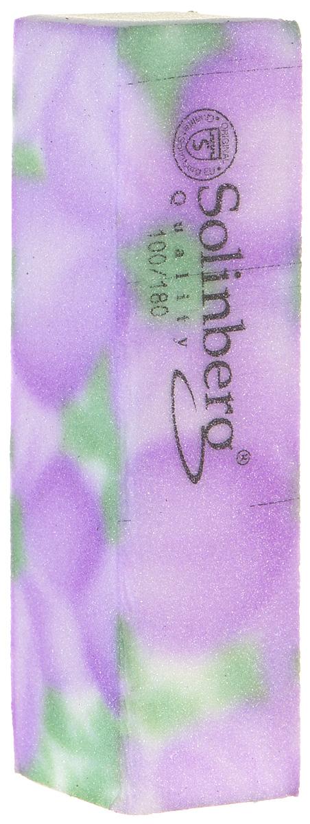 Брусок полировочный Solinberg 439, 2 в 1 (100/180), цвет: сиреневый, длина 9 см