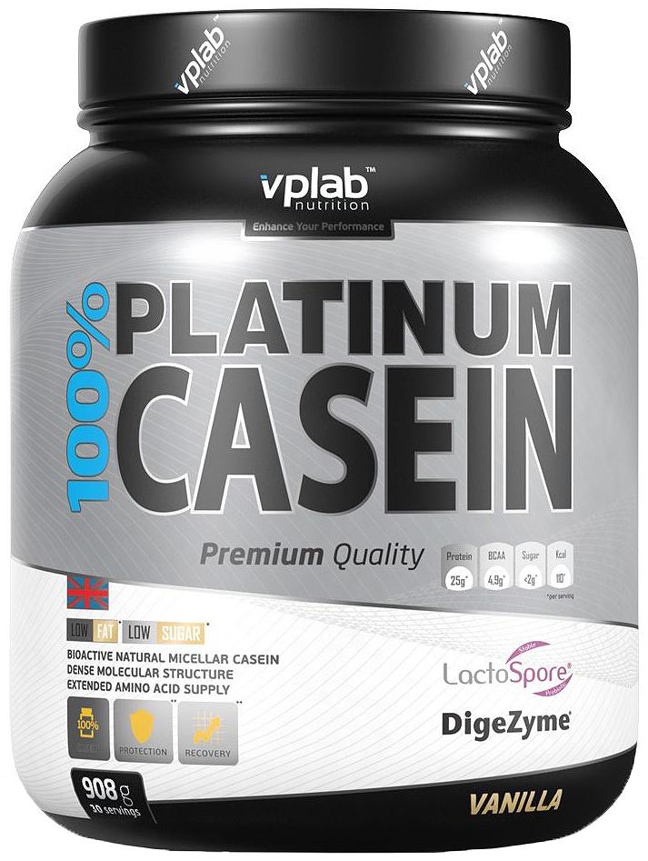 Протеин 100% Platinum Casein 908г ваниль