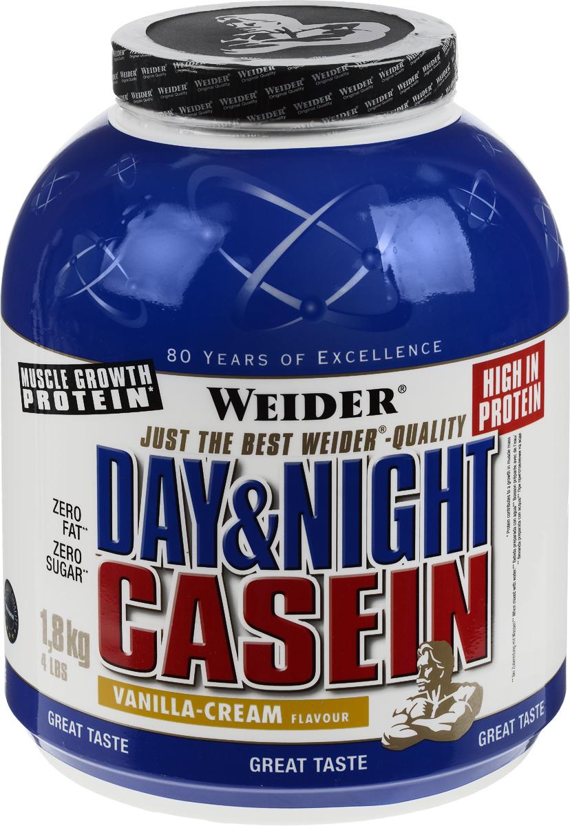 Казеин Weider Day & Night Casein, ваниль-крем, 1,8 кг31271Казеин Weider Day & Night Casein - порошок для приготовления высокобелкового напитка с казеинатом кальция, как единственным источником протеина. Казеин усваивается медленно, поддерживая постоянное поступление аминокислот в кровь. Мышцы могут быть обеспечены аминокислотами на 7 часов. Weider Day & Night Casein производится с использованием передовых методов производства и предлагает высокое качество для успешных тренировок. Идеально подходит для последнего приема пищи перед сном или в качестве промежуточного между приемами пищи коктейля. Он также идеально подходит для защиты мышц во время жестких тренировок, чтобы сжигать жир. Идеальная альтернатива творогу, потому что он не содержит жир и углеводы. Рекомендации по применению: Пейте от 1 до 3 коктейлей в день. Употребляйте между приемами пищи и перед сном. Рекомендации по приготовлению: Размешать 25 г порошка (1 мерная ложка) в 300 мл маложирного молока (1,5% жирности) или воды. ...