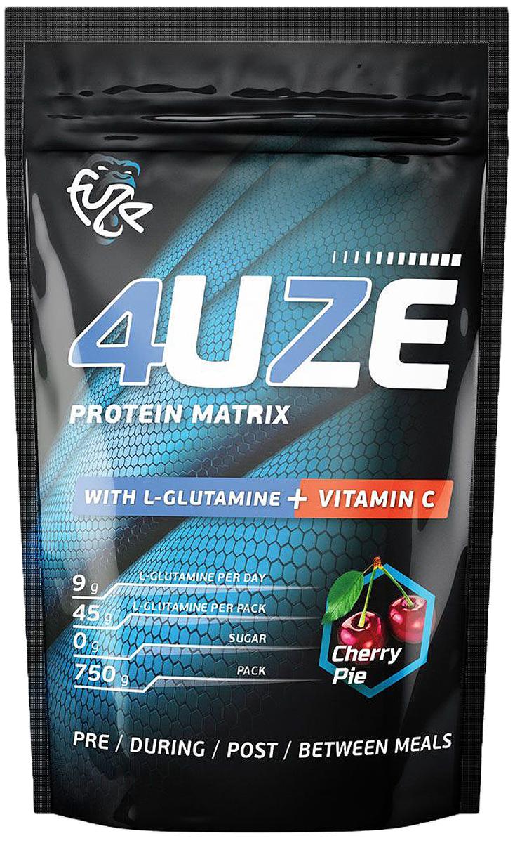 Протеин PureProtein Fuze + Glutamine, вишневый пирог, 750 г3610303Для тех, кто особенно следит за своей иммунной системой разработан 4uze Glutamine + Vitamin C. Кроме полезного при профилактике заболеваний витамина С, в составе этого продукта есть также аминокислота глутамин, которая отлично поддерживает иммунную систему. А прием глутамина совместно с протеином поможет в лучшей адаптации к тренировочным нагрузкам. Ингредиенты: концентрат сывороточного белка - 37,6%, концентрат молочного белка - 18,9%, сухой яичный белок - 18,9%, изолят соевого белка - 19,1 %, пшеничный белок - 5,5%, фруктоза, декстроза, соевый лецитин, мальтодекстрин, витамин С, глутамин, ароматизатор, аспасвит (не содержит финилалалин), ксантановая камедь, пищевой краситель Кармин (только для вкуса Вишневый пирог). Состав может меняться в зависимости от вкусов, но новые компоненты (из основных) не добавляются. Товар сертифицирован.
