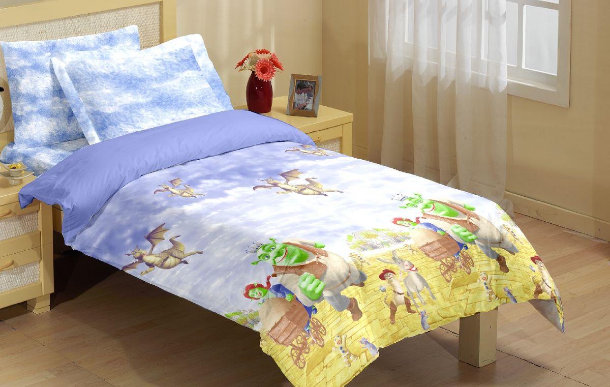 Комплект белья Liya Home Collection Шрек, 1,5-спальный, наволочки 70x70, цвет: голубой, желтый0000120000351_голубой/желтыйLiya Tekstil производитель тканей и готовой продукции для дома.В нашем ассортименте комплекты постельного белья из - поплина ( 100% хлопок пл 115х125 гр/м2 ),- сатина ( 100% хлопок пл 130х140 гр/м2,) ,поликаттон (60%хлопка,40%пэ 115гр/м2), крашение реактив.Мы гарантируем ГОСТовский пошив наших комплектов, эксклюзивная упаковка которая пользуется спросом на рынке.