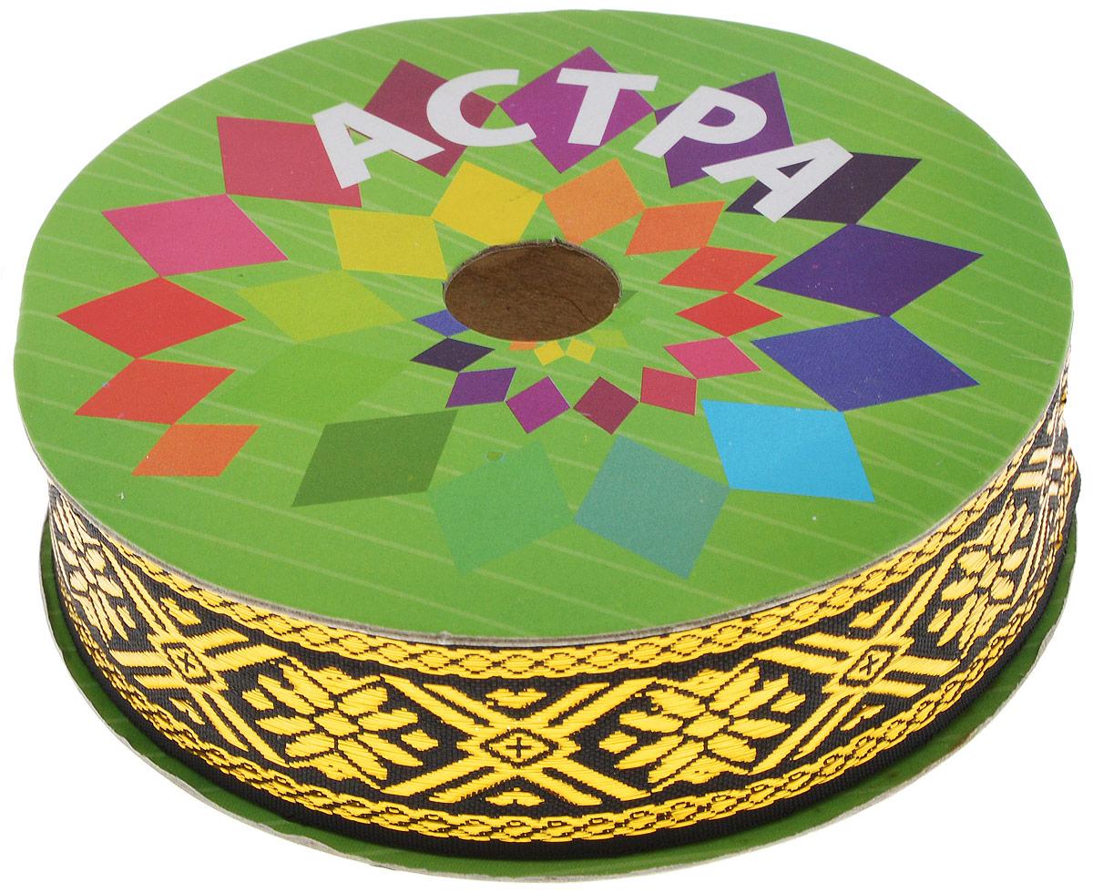 Тесьма декоративная Астра, цвет: черный, ширина 3 см, длина 32,8 м. 77033637703363_черный/золотоДекоративная тесьма Астра выполнена из текстиля и оформлена оригинальным орнаментом. Такая тесьма идеально подойдет для оформления различных творческих работ таких, как скрапбукинг, аппликация, декор коробок и открыток и многое другое. Тесьма наивысшего качества и практична в использовании. Она станет незаменимым элементом в создании рукотворного шедевра. Ширина: 3 см. Длина: 32,8 м.