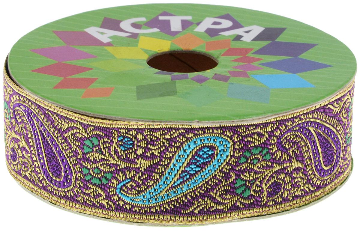 Тесьма декоративная Астра, цвет: фуксия (С12), ширина 3 см, длина 9 м. 77034237703423_C12Декоративная тесьма Астра выполнена из текстиля и оформлена оригинальным жаккардовым орнаментом. Такая тесьма идеально подойдет для оформления различных творческих работ таких, как скрапбукинг, аппликация, декор коробок и открыток и многое другое. Тесьма наивысшего качества и практична в использовании. Она станет незаменимым элементом в создании рукотворного шедевра.