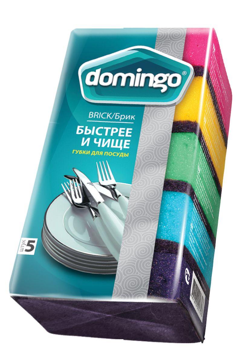 Губка для мытья посуды Доминго, с абразивным слоем, 70 х 94 х 37 смП0401Увеличенная толщина поролона отлично подходит для ладони. Более толстый слой абразива NORD для стойких загрязнений, позволяет быстрее добиться блестящего результата.