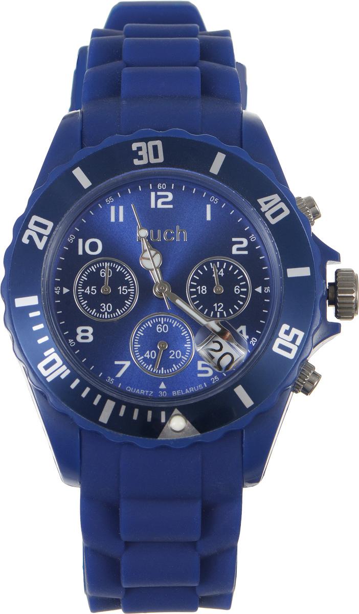 Наручные часы Луч Пластиковая коллекция с хронографом, цвет: синий. 728885017728885017Стильные часы Луч выполнены из высококачественного пластика. Циферблат изделия дополнен символикой бренда. Часы оснащены кварцевым механизмом с тремя стрелками со светонакопительным составом, хронографом, одинарным календарем и индикатором времени суток. Изделие дополнено силиконовым ремешком, оснащенным классической застежкой, позволяющей максимально комфортно и быстро снимать и одевать часы. Часы поставляются в фирменной упаковке. Часы Луч из пластиковой коллекции с хронографом - аксессуар, о котором можно только мечтать. Блистательный циферблат легко подчинит себе ваше время.