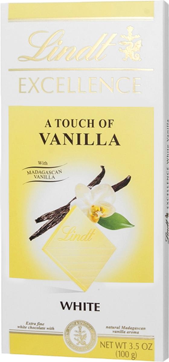 Lindt Excellence белый шоколад с ванилью, 100 г3046920084000Lindt Excellence - нежный, тонкий белый шоколад, с насыщенным молочно-ванильным вкусом.