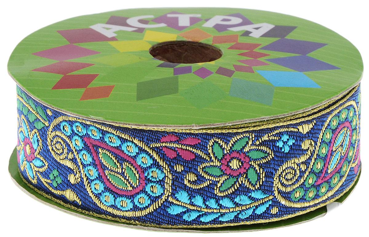 Тесьма декоративная Астра, цвет: синий, голубой (С3), ширина 3 см, длина 9 м. 77034427703442_С3Декоративная тесьма Астра выполнена из текстиля и оформлена оригинальным жаккардовым орнаментом. Такая тесьма идеально подойдет для оформления различных творческих работ таких, как скрапбукинг, аппликация, декор коробок и открыток и многое другое. Тесьма наивысшего качества и практична в использовании. Она станет незаменимым элементом в создании рукотворного шедевра. Ширина: 3 см. Длина: 9 м.