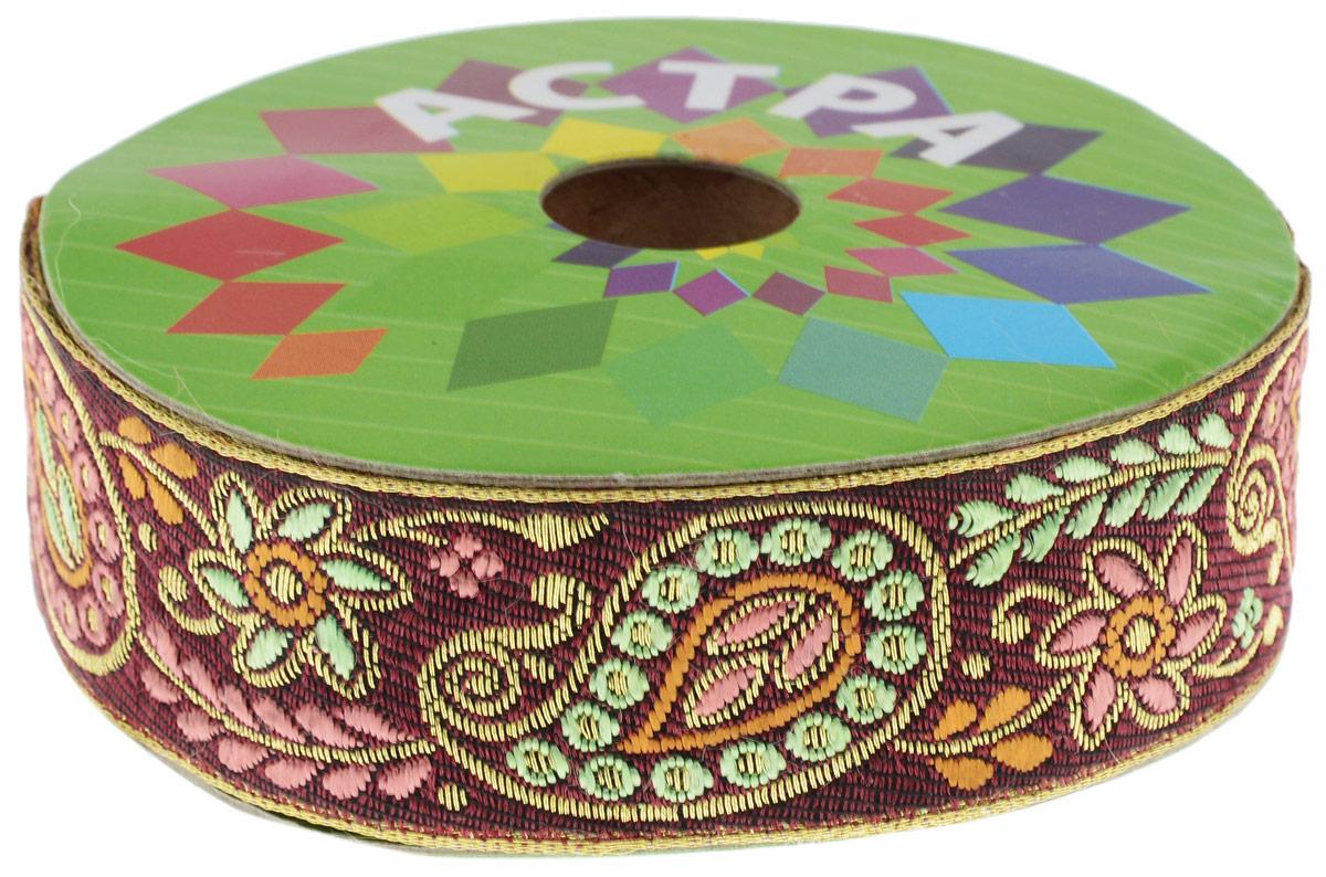 Тесьма декоративная Астра, цвет: темно-бордовый (С24), ширина 3 см, длина 9 м7703442_С24Декоративная тесьма Астра выполнена из текстиля и оформлена оригинальным жаккардовым орнаментом. Такая тесьма идеально подойдет для оформления различных творческих работ таких, как скрапбукинг, аппликация, декор коробок и открыток и многое другое. Тесьма наивысшего качества и практична в использовании. Она станет незаменимым элементом в создании рукотворного шедевра. Ширина: 3 см. Длина: 9 м.