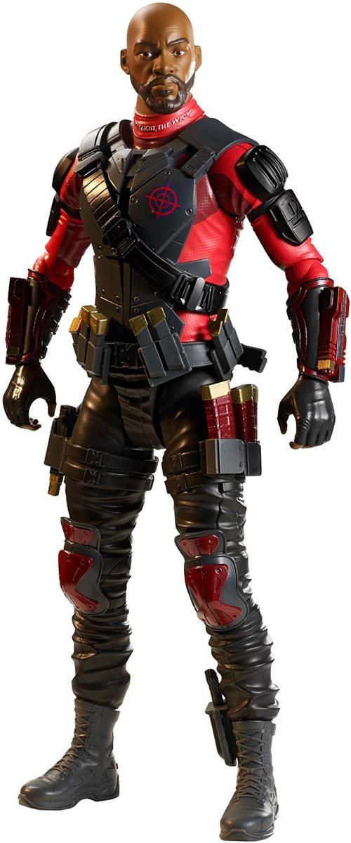 DC Comics Фигурка Suicide Squad DeadshotDNV48_DNV51Дэдшот - наемный убийца, который регулярно хвастается тем, что никогда не допустил ни одной осечки. Он использует широкий спектр оружия, но чаще всего пистолеты, закрепленные на запястьях. Изначально, он появляется в Готэме в качестве нового борца с преступностью, но становится врагом Бэтмена, когда попытался заменить Темного рыцаря и позже отправляется в тюрьму, когда Бэтмен и комиссар Гордон публично разоблачают его. Фигурка DC Comics Suicide Squad. Deadshot выполнена из безопасного пластика в виде популярного героя комиксов. У фигурки подвижные руки и ноги. В наборе имеется оружие. Такая фигурка непременно понравится поклоннику фильма Suicide Squad (Отряд самоубийц) и станет замечательным украшением любой коллекции.