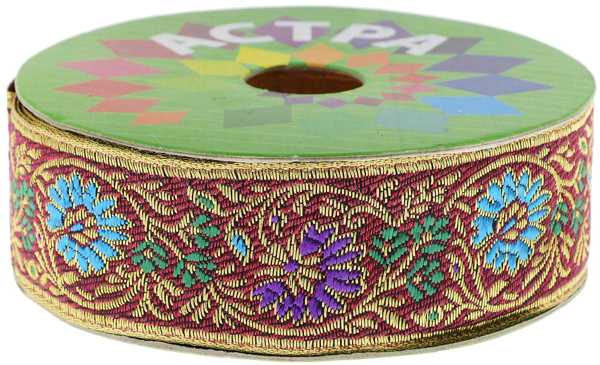 Тесьма декоративная Астра, цвет: фиолетовый, голубой (С12), ширина 3 см, длина 9 м. 77034417703441_С12Декоративная тесьма Астра выполнена из текстиля и оформлена оригинальным жаккардовым орнаментом. Такая тесьма идеально подойдет для оформления различных творческих работ таких, как скрапбукинг, аппликация, декор коробок и открыток и многое другое. Тесьма наивысшего качества и практична в использовании. Она станет незаменимым элементом в создании рукотворного шедевра. Ширина: 3 см. Длина: 9 м.