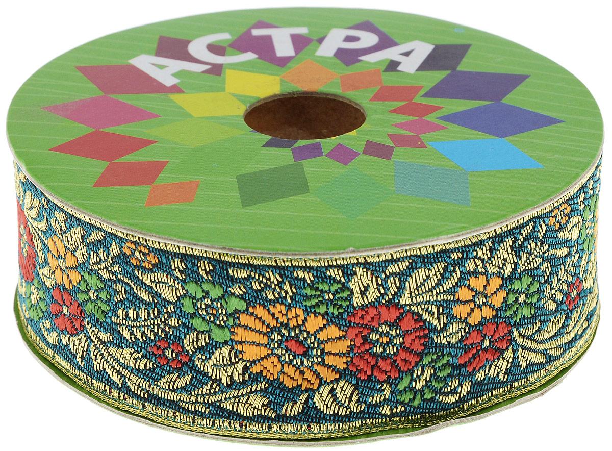 Тесьма декоративная Астра, цвет: темно-зеленый, оранжевый (С2), ширина 3 см, длина 9 м. 77034397703439_С2Декоративная тесьма Астра выполнена из текстиля и оформлена оригинальным орнаментом. Такая тесьма идеально подойдет для оформления различных творческих работ таких, как скрапбукинг, аппликация, декор коробок и открыток и многое другое. Тесьма наивысшего качества и практична в использовании. Она станет незаменимым элементом в создании рукотворного шедевра. Ширина: 3 см. Длина: 9 м.