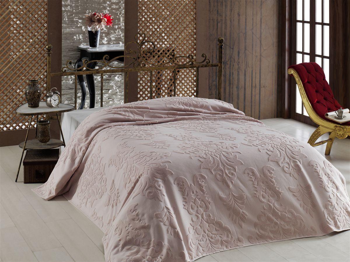 Покрывало Arya Laurel, цвет: розовый, 200 х 220 смTR1001607РозовыйНеповторимое махровое покрывало-простыня от марки Arya - украшена жаккардовым рисунком с обеих сторон изделия. Простыня изготовлена из нежнейшего хлопка, натуральное хлопковое волокно дышащее, легкое, нежное. Простыня из хлопка может служить в жаркое время года в качестве тонкого, летнего одеяла, а зимой очень комфортно стелить такую простынь вместо обычной. Махровая простынь сохранит тепло, создаст уют в вашей спальне. Покрывало-простынь используют так же, как легкое покрывало на кровать. Край изделия обработан. Изделие неприхотливое в уходе, стирается в машинке, как обычные полотенца, легко сохнет.