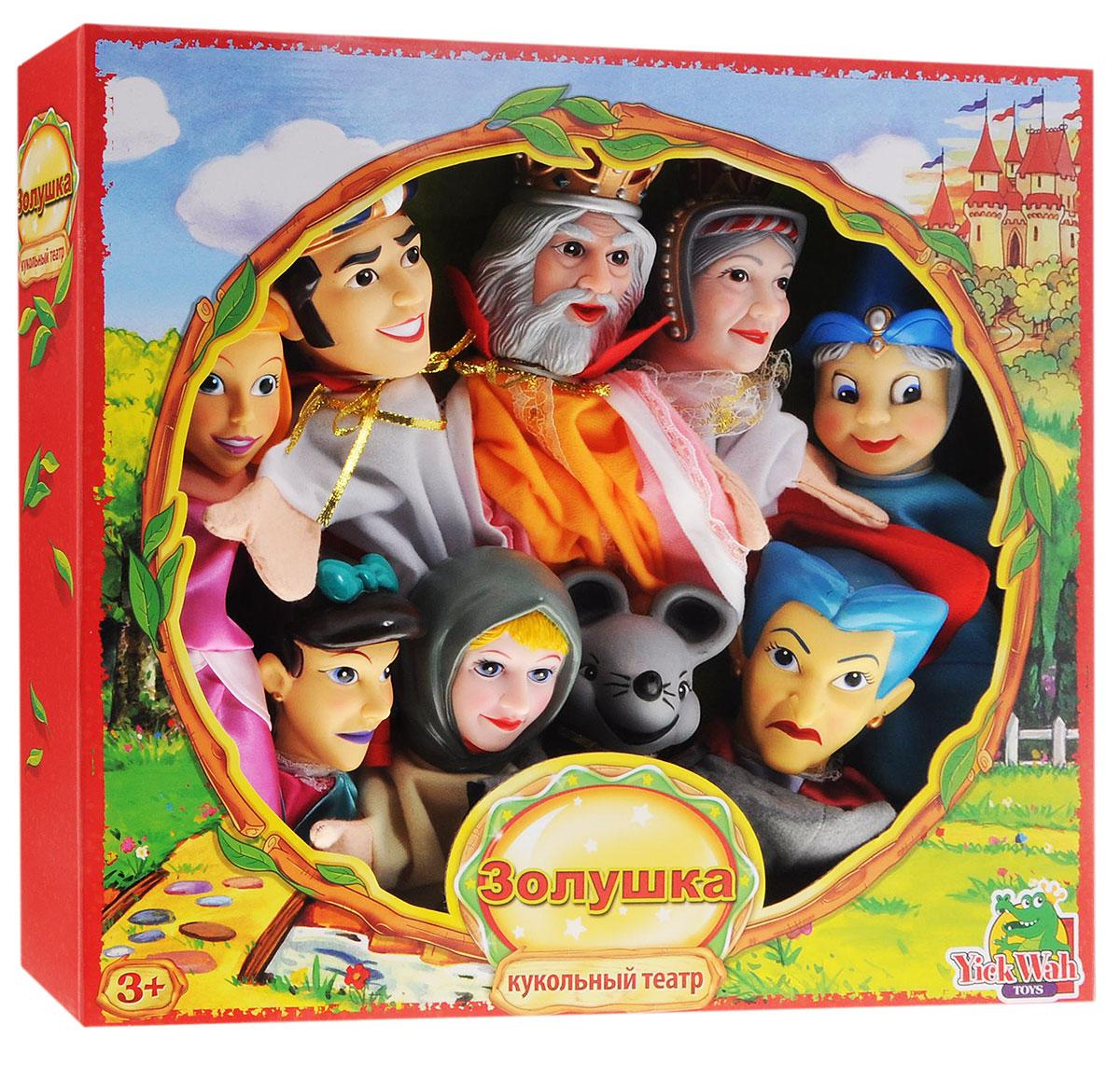 Yick Wah Кукольный театр Золушка7142S/4Почему бы не устроить представление у себя дома, используя куклы-перчатки? С кукольным театром Yick Wah Золушка малыш сможет быть не только зрителем, но и участником представления с собственным сюжетом. Набор состоит из куколок, которые одеваются на руку. Головы кукол выполнены из полимера, а туловища и руки из текстиля, у каждого героя свой очень красивый наряд. Куклы обладают высокой степенью прочности и безопасности и могут использоваться для игры даже с самыми маленькими детками. Кукольный театр развивает ребенка и делает его более яркой, гармоничной личностью. Ведь в театральных постановках малыш может реализовать свои творческие и актерские таланты, научится красиво говорить и двигаться, улучшит моторику рук и координацию движений. А какое огромное количество позитивных эмоций дарит театр.