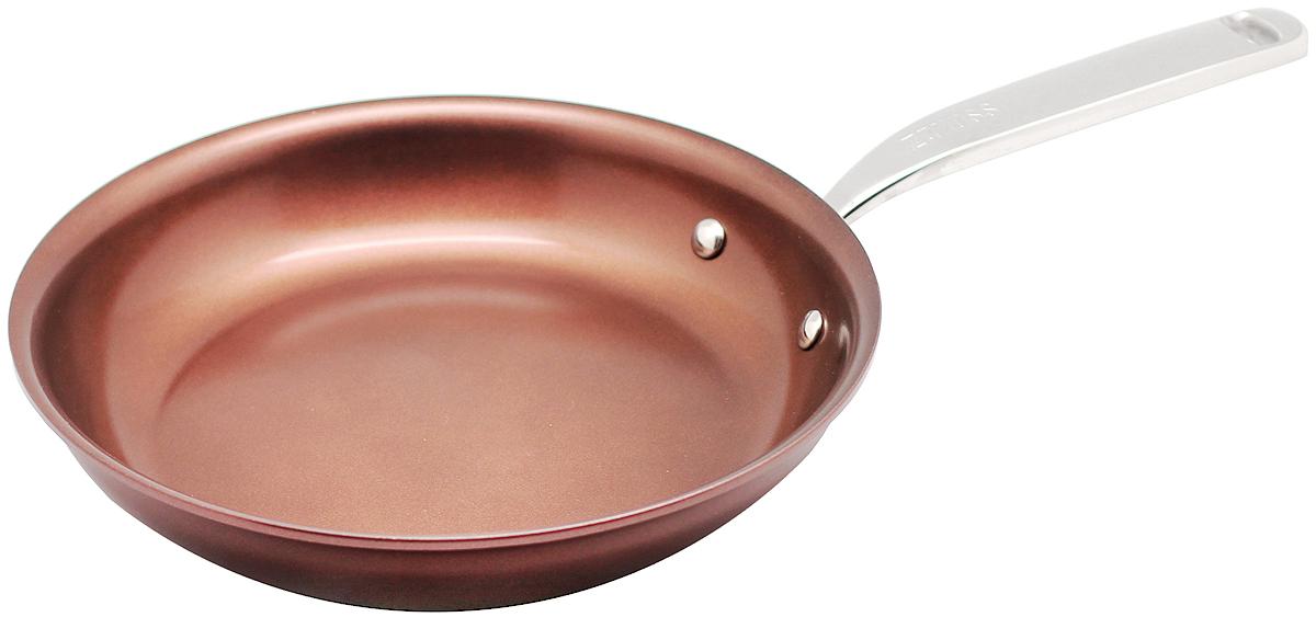 Сковорода 28см Siena ZANUSSIZCF53231CFСковорода подходит для всех типов плит, включая индукционные. Изготовлена из алюминия с внешним покрытием цвета красный перец. Многослойное дно. Ручка выполнена из нержавеющей стали, внутреннее 2-х керамическое покрытие Greblon® не содержит вредные кислоты PTFE и PFOA. Сковорода подходит для приготовления блюд в духовке. Можно мыть в посудомоечной машине. Высота борта: 5 см.