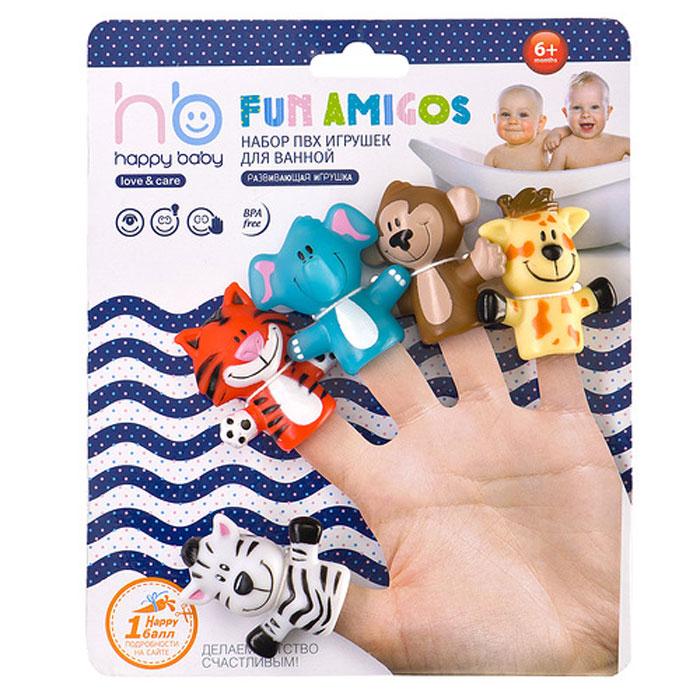 Набор пальчиковых игрушек Джунгли/сафари, 5 шт32010Набор пальчиковых игрушек Джунгли/сафари представляет собой мини-театр, состоящий из веселых животных: жирафика, обезьянки, слоника, тигренка и зебры. С помощью фигурок можно разыгрывать маленькие спектакли и рассказывать малышу истории, подкрепляя их визуальными образами. Игрушки легко надеваются на палец, ими удобно управлять даже ребенку. Они выполнены из безопасного мягкого материала. Забавные персонажи смогут развлечь малыша и во время купания. Набор пальчиковых игрушек Джунгли/сафари поспособствует ребенку в развитии цветового восприятия, внимания, воображения, фантазии, мышления, памяти и мелкой моторики рук. Высота игрушек: 5,5 см. Рекомендуемый возраст: от 6 месяцев.