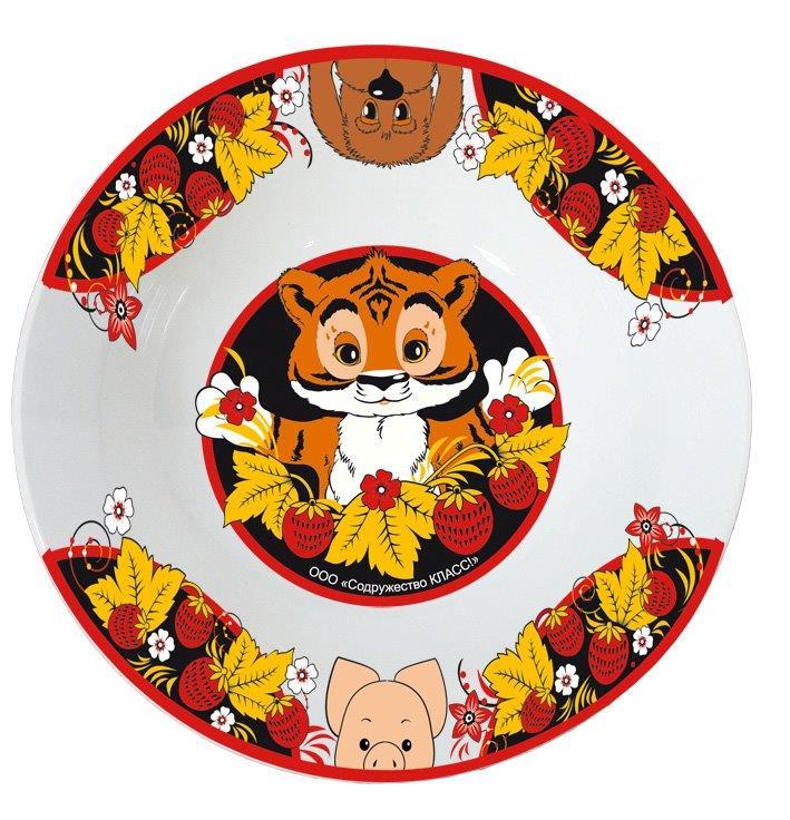 Телекомпания Класс Тарелка детская Тигр МурМФ17СП3Произведено по лицензии Телекомпании Класс