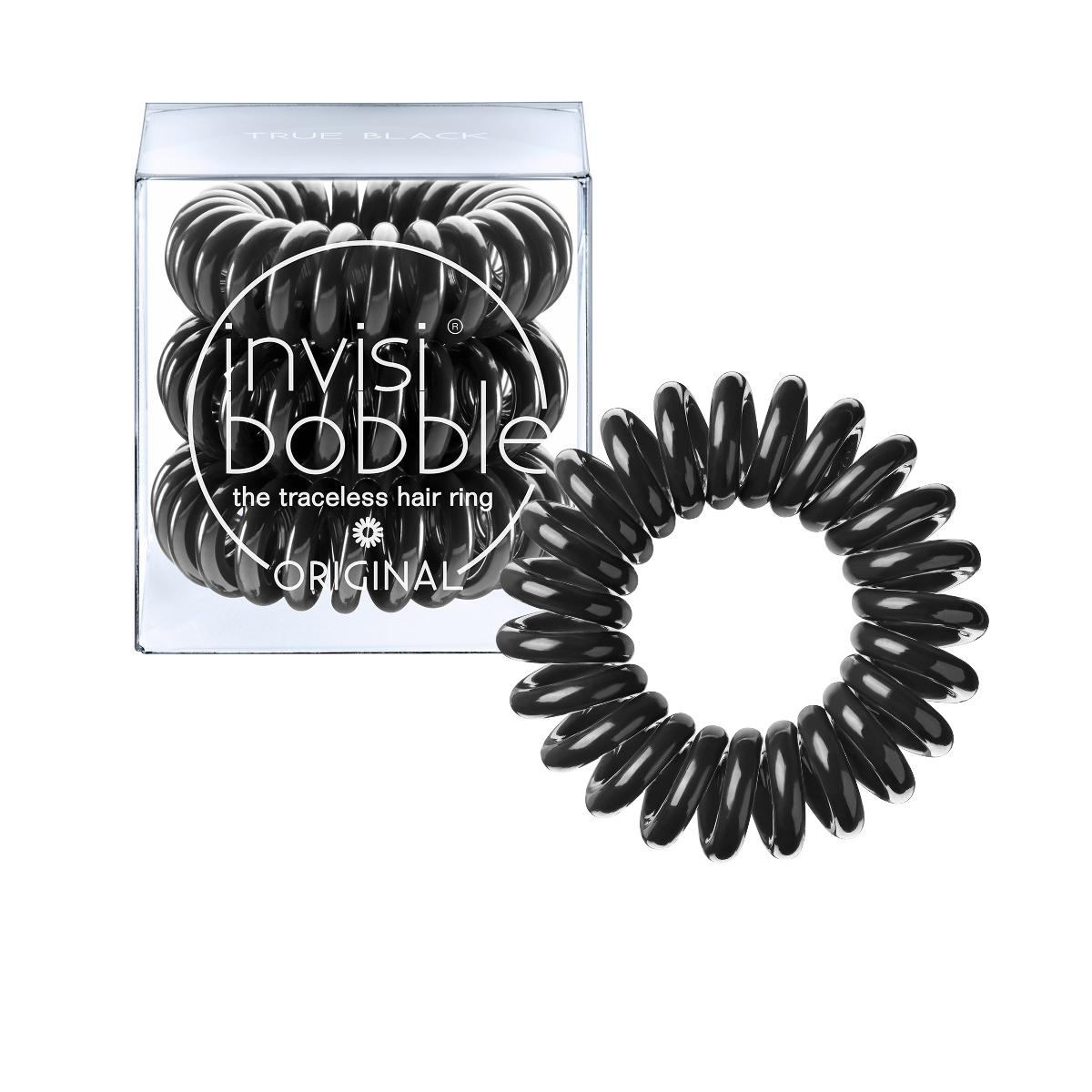 Invisibobble Резинка-браслет для волос Original True Black3040Оттенок invisibobble true black из коллекции ORIGINAL для всех, кто придерживается классического стиля! В коллекцию ORIGINAL вошли наиболее популярные цвета резинок-браслетов, а также новые цвета для создания безупречного образа на каждый день. Резинки-браслеты invisibobble подходят для всех типов волос, надежно фиксируют причёску, не оставляют заломов и не вызывают головную боль благодаря неравномерному распределению давления на волосы. Кроме того, они не намокают и не вызывают аллергию при контакте с кожей, поскольку изготовлены из искусственной смолы.