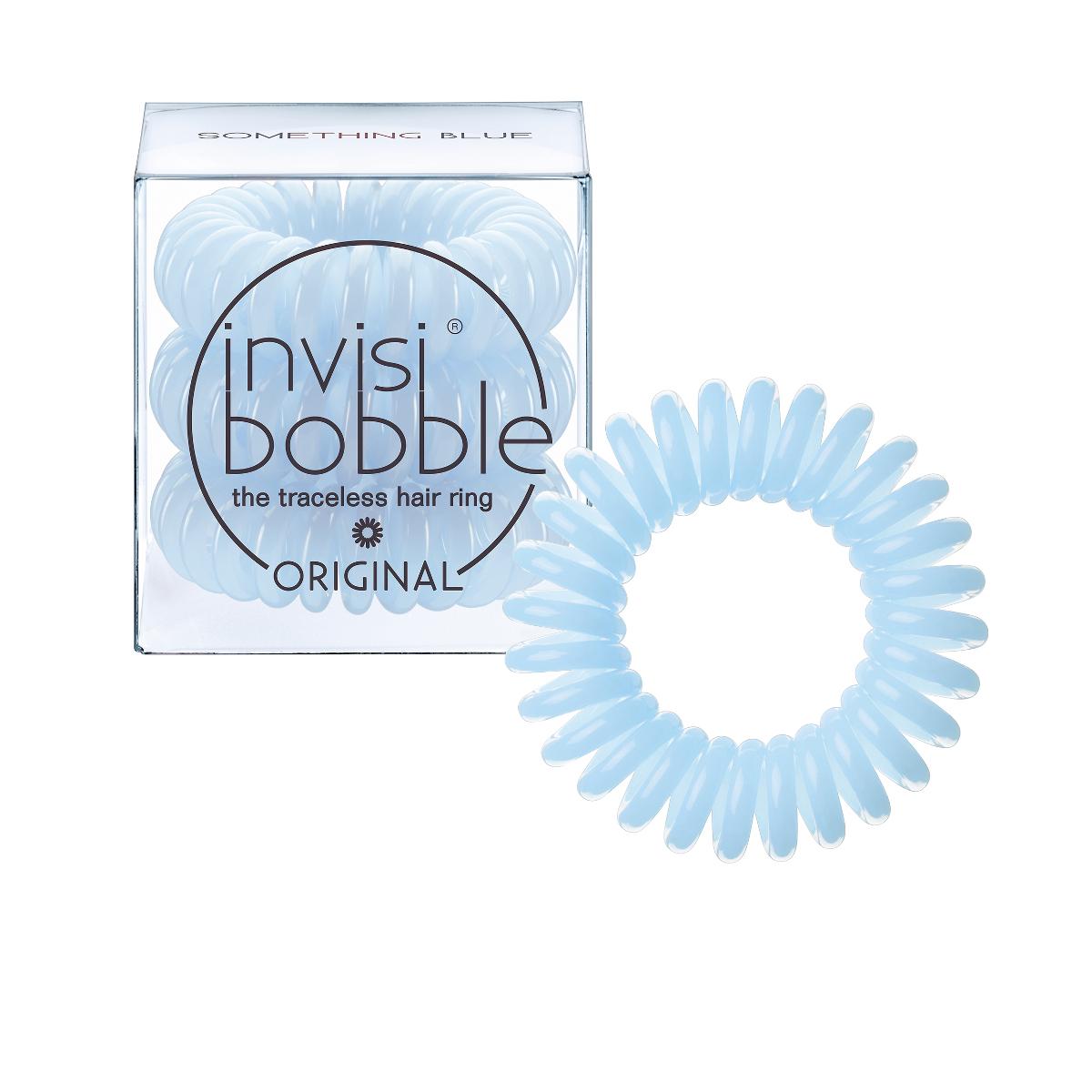 Invisibobble Резинка-браслет для волос Original Something Blue3047В нежно-голубой оттенок invisibobble something blue из коллекции ORIGINAL просто невозможно не влюбиться! В коллекцию ORIGINAL вошли наиболее популярные цвета резинок-браслетов, а также новые цвета для создания безупречного образа на каждый день. Резинки-браслеты invisibobble подходят для всех типов волос, надежно фиксируют причёску, не оставляют заломов и не вызывают головную боль благодаря неравномерному распределению давления на волосы. Кроме того, они не намокают и не вызывают аллергию при контакте с кожей, поскольку изготовлены из искусственной смолы.