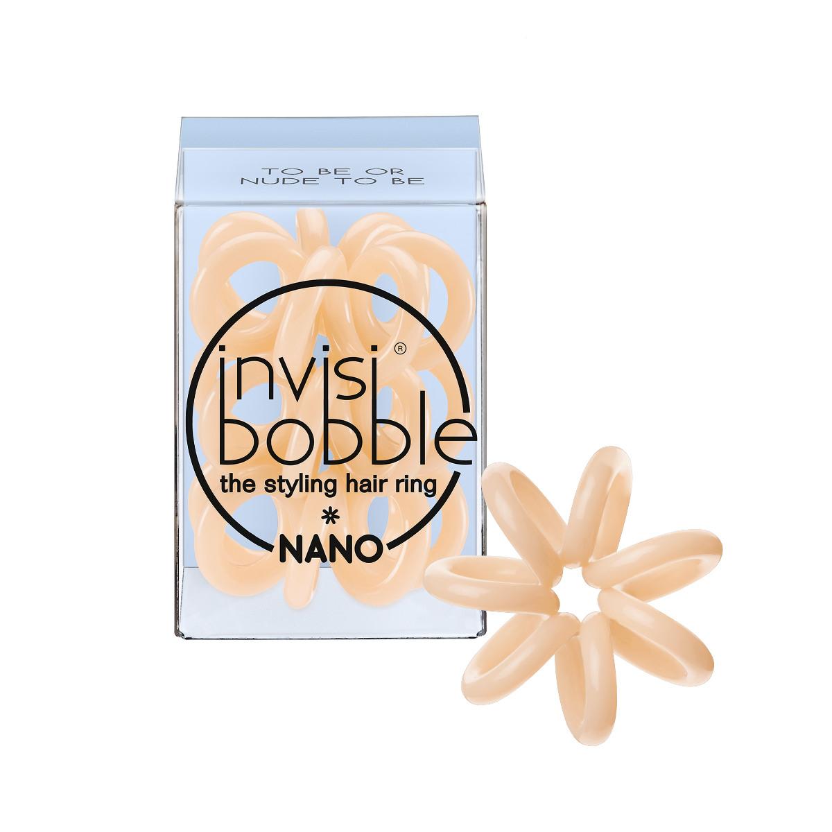 Invisibobble Резинка для волос Nano To Be or Nude to Be3051Все любят естественный макияж, так почему бы не продолжить эту тему и на волосах? Пастельный оттенок invisibobble to be or nude to be из коллекции NANO вам в помощь! Долгожданный цвет для блондинок в коллекции. Коллекция invisibobble NANO создана специально для создания причёсок! Резиночки invisibobble NANO гораздо меньше в размере, чем invisibobble ORIGINAL, тем самым они идеально подходят для создания самых разнообразных причёсок, а также для детских волос. Резинки подходят для всех типов волос, надежно фиксируют причёску, не оставляют заломов и не вызывают головную боль благодаря неравномерному распределению давления на волосы. Кроме того, они не намокают и не вызывают аллергию при контакте с кожей, поскольку изготовлены из искусственной смолы.