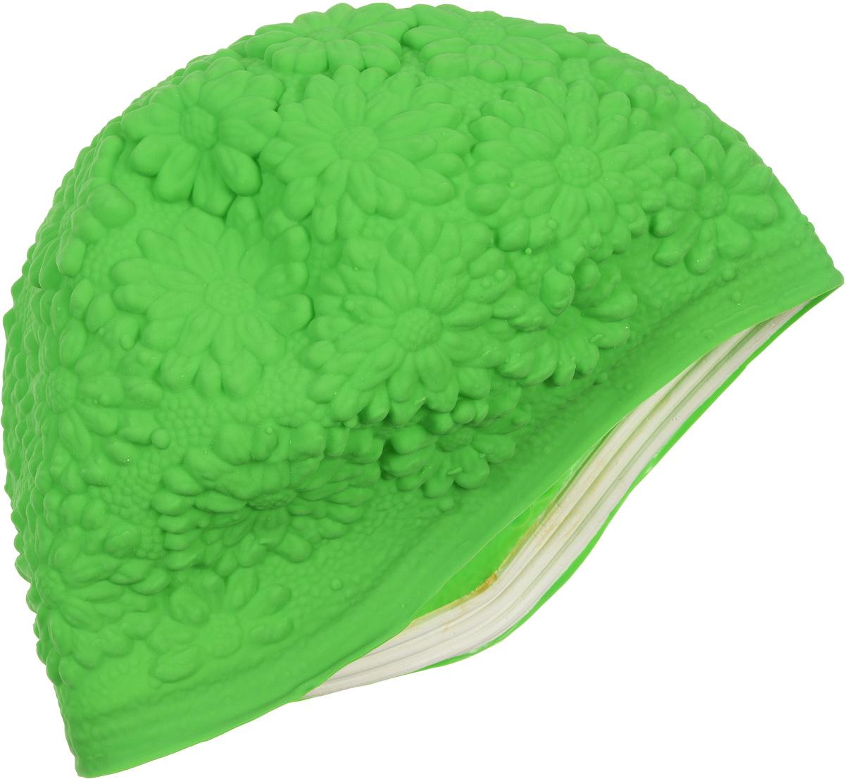 Шапочка для плавания MadWave Hawaii Chrysanthemum, женская, цвет: зеленыйM0517 02 0 10WЛатексная женская шапочка MadWave Hawaii Chrysanthemum с цветочным дизайном. Имеет превосходную эластичность и высокий уровень комфорта. Высококачественный материал обеспечивает долгий срок службы. Характеристики: Материал: латекс. Размер шапочки: 22 см x 21 см. Производитель: Китай. Артикул: M0517 02 0 10W.