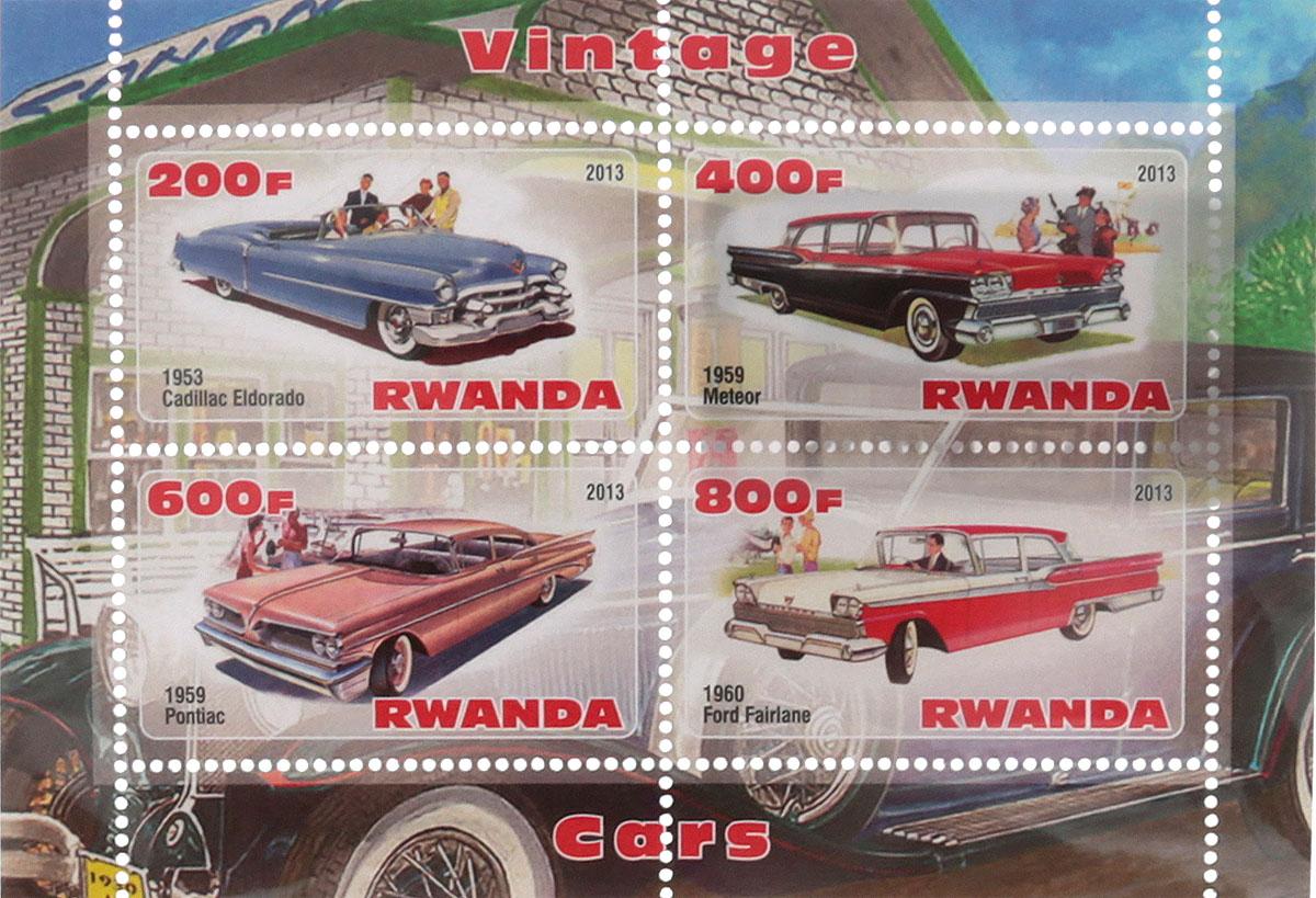 Почтовый блок в 4 марки Винтажные автомобили - 2. Руанда, 2013 годМКСПБ 41-2016.33Почтовый блок в 4 марки Винтажные автомобили - 2. Руанда, 2013 год. Размер блока: 7.3 х 10.5 см. Размер марок: 2.5 х 4.5 см. Сохранность хорошая.