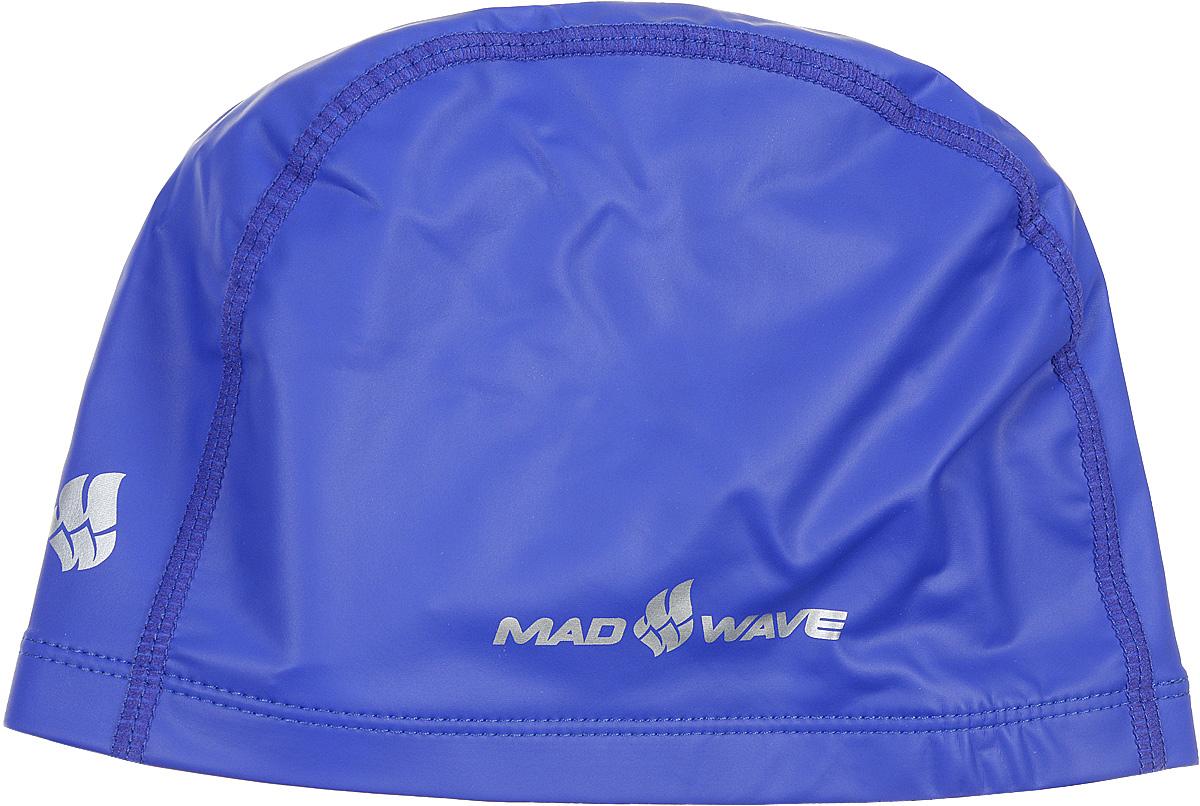 """MadWave Шапочка для плавания Mad Wave """"PUT Coated"""", цвет: синий"""