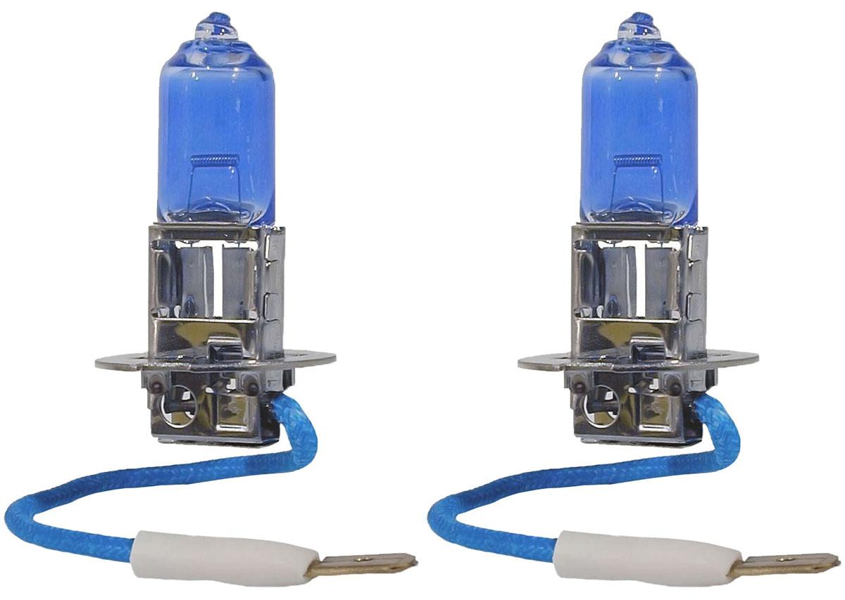 Лампа автомобильная галогенная Philips DiamondVision, для фар, цоколь H3 (PK22s), 12V, 55W, 2 шт12336DVS2Автомобильная галогенная лампа Philips DiamondVision произведена из запатентованного кварцевого стекла с УФ фильтром Philips Quartz Glass. Кварцевое стекло Philips в отличие от обычного твердого стекла выдерживает гораздо большее давление смеси газов внутри колбы, что препятствует быстрому испарению вольфрама с нити накаливания. Кварцевое стекло выдерживает большой перепад температур, при попадании влаги на работающую лампу изделие не взрывается и продолжает работать. Лампа DiamondVision с чистым белым светом, цветовой температурой 5000 K и стильным эффектом холодного белого ксенонового света идеально подходит для водителей, которые хотят придать индивидуальный стиль своему автомобилю. Автомобильные галогенные лампы Philips удовлетворят все нужды автомобилистов: дальний свет, ближний свет, передние противотуманные фары, передние и боковые указатели поворота, задние указатели поворота, стоп-сигналы, фонари заднего хода, задние противотуманные фонари, освещение...