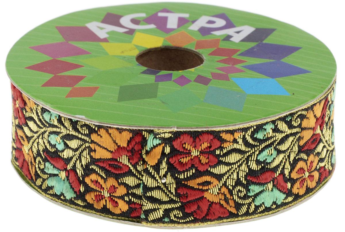 Тесьма декоративная Астра, цвет: черный (С20), ширина 3 см, длина 9 м. 77034437703443_С20Декоративная тесьма Астра выполнена из текстиля и оформлена оригинальным жаккардовым орнаментом. Такая тесьма идеально подойдет для оформления различных творческих работ таких, как скрапбукинг, аппликация, декор коробок и открыток и многое другое. Тесьма наивысшего качества и практична в использовании. Она станет незаменимым элементом в создании рукотворного шедевра. Ширина: 3 см. Длина: 9 м.