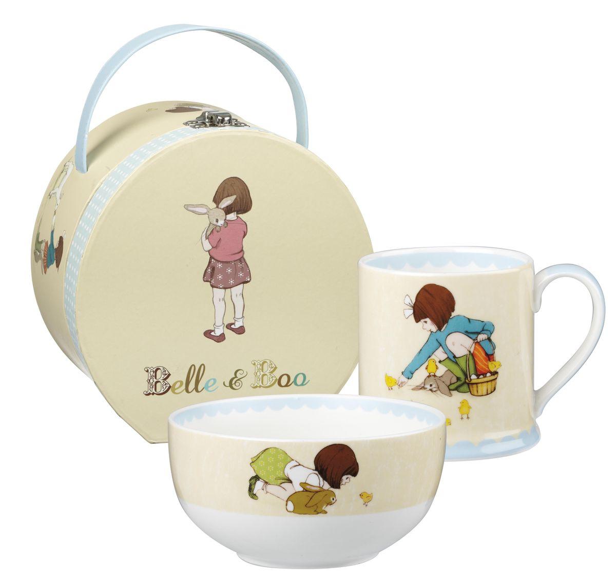 Набор столовой посуды Churchill, 2 предмета. BBCL00011BBCL00011Маленькая девочка Белль и её друг кролик Бу всегда вместе и в солнечные дни, и дождливую погоду, они вместе мечтают и играют, герои любознательны и любят учиться, все это отражает коллекция Белль и Бу в своих рисунка. Материал: Фарфор Можно мыть в посудомоечной машине Можно использовать в микроволновой печи Детская посуда от 3-х лет Внимание: посуда с позолоченным орнаментом запрещена для использования в микроволновой печи, т.к. металлическая позолота может привести к искрообразованию в камере микроволновой печи.