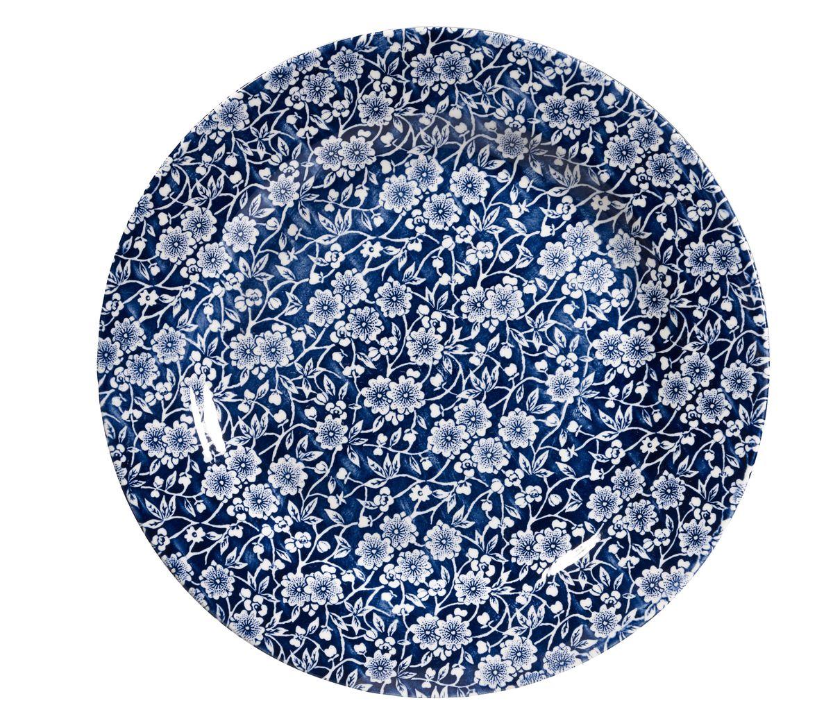 Тарелка обеденная Churchill, цвет: синий, диаметр 26 см. CABL00071CABL00071Викторианский стиль Отличается традиционным орнаментом, сочетает маленький рисунок цветов с богатым синим цветом. Можно мыть в посудомоечной машине Можно использовать в микроволновой печи Внимание: посуда с позолоченным орнаментом запрещена для использования в микроволновой печи, т.к. металлическая позолота может привести к искрообразованию в камере микроволновой печи.
