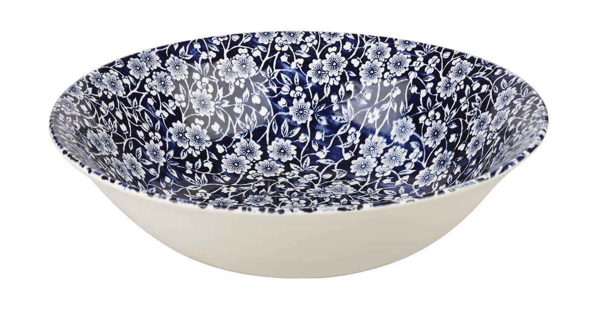 Салатник Churchill, диаметр 24 см. CABL00171CABL00171Викторианский стиль Отличается традиционным орнаментом, сочетает маленький рисунок цветов с богатым синим цветом. Можно мыть в посудомоечной машине Можно использовать в микроволновой печи Внимание: посуда с позолоченным орнаментом запрещена для использования в микроволновой печи, т.к. металлическая позолота может привести к искрообразованию в камере микроволновой печи.