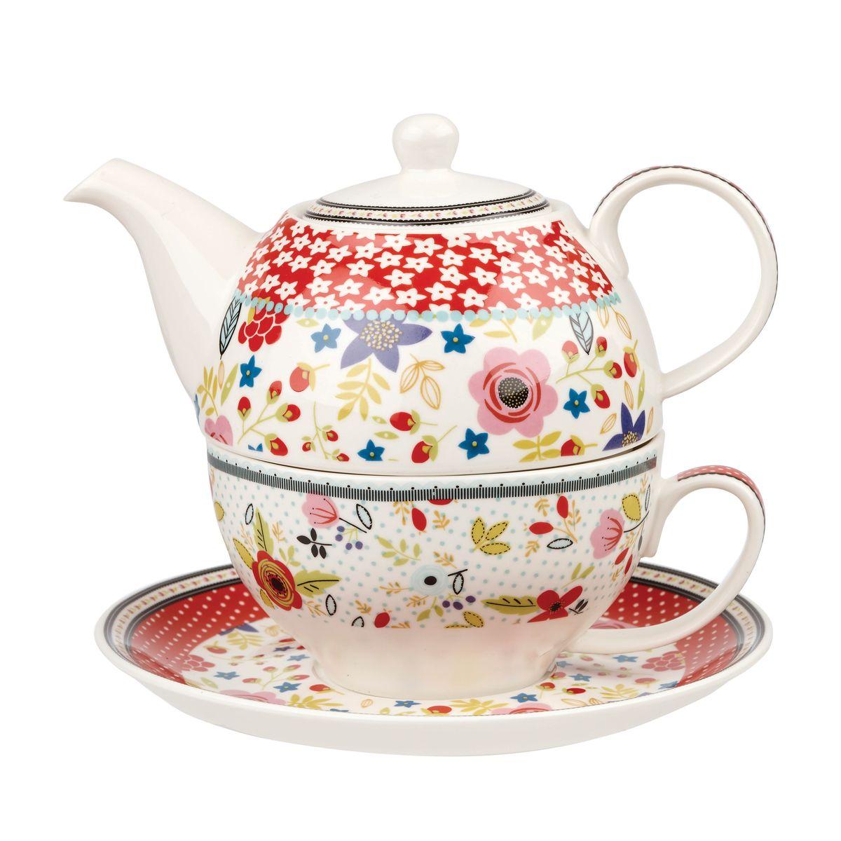 Набор чайный Churchill, 3 предмета. CARV10781CARV10781Коллекция погрузит вас в увлекательное путешествие вокруг Британских островов. Воспоминания о путешествии, о любви, ностальгия по детству легли в основу создания коллекции Караван. Коллекция Караван отличается яркими цветами. Материал: фарфор Можно мыть в посудомоечной машине Можно использовать в микроволновой печи
