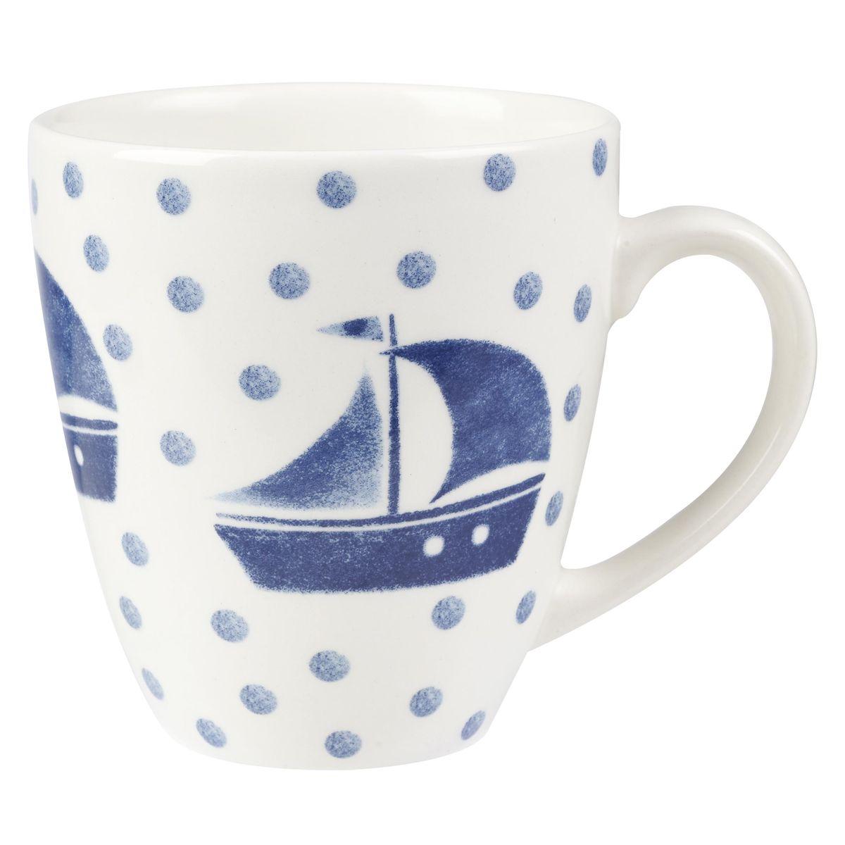 Кружка Churchill Яхта, 500 мл. COUT00181COUT00181Коллекция Сиена отражает Скандинавский стиль. Этот стиль отличается своей простотой и минимализмом, синий орнамент на белоснежном фоне. Материал: фаянс Можно мыть в посудомоечной машине Можно использовать в микроволновой печи