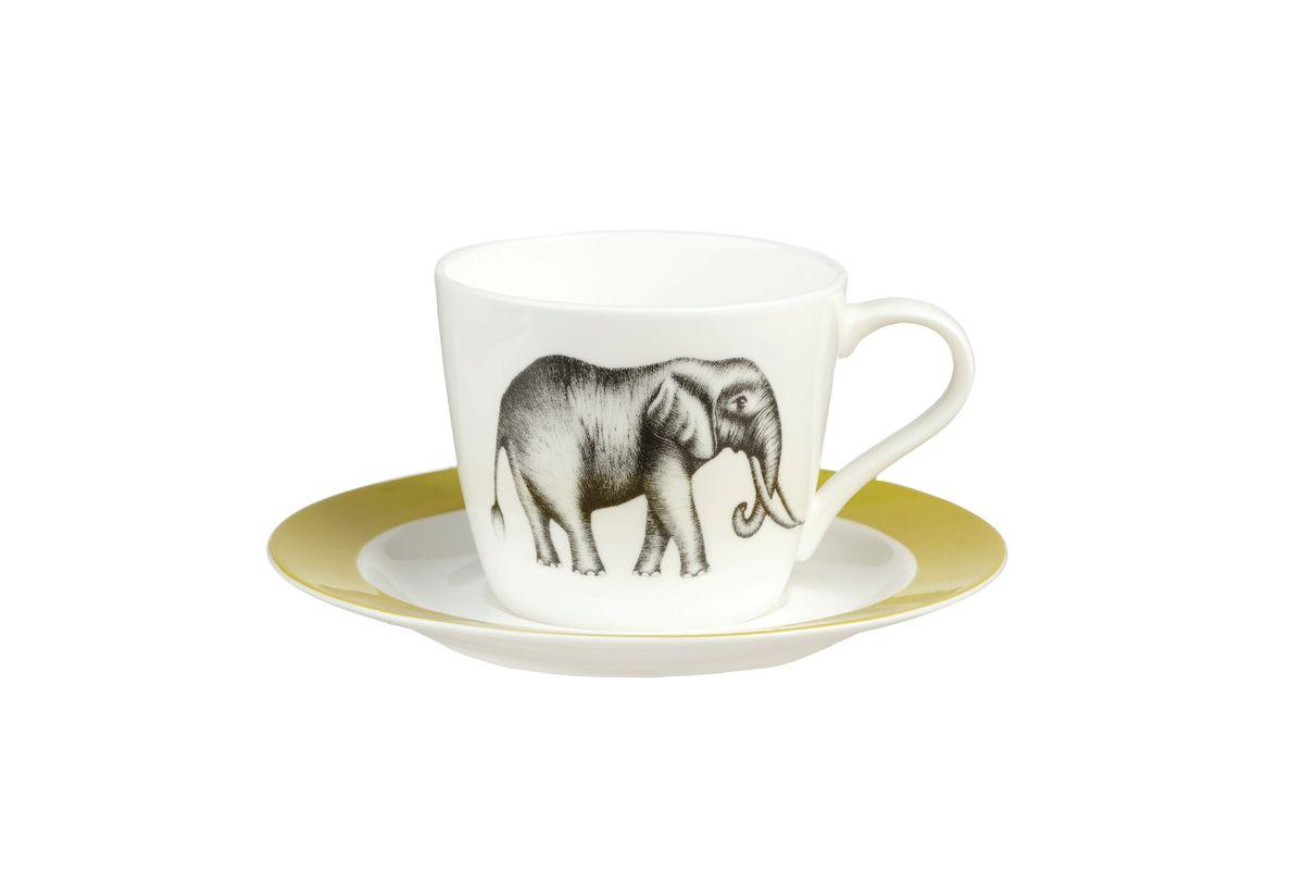 Чайная пара Churchill Саванна, 2 предметаHARL00321Чайная пара Churchill Саванна состоит из чашки и блюдца, выполненных из высококачественного фарфора. Оригинальный дизайн, несомненно, придется вам по вкусу. Чайная пара Churchill Саванна украсит ваш кухонный стол, а также станет замечательным подарком к любому празднику. Объем чашки: 200 мл.