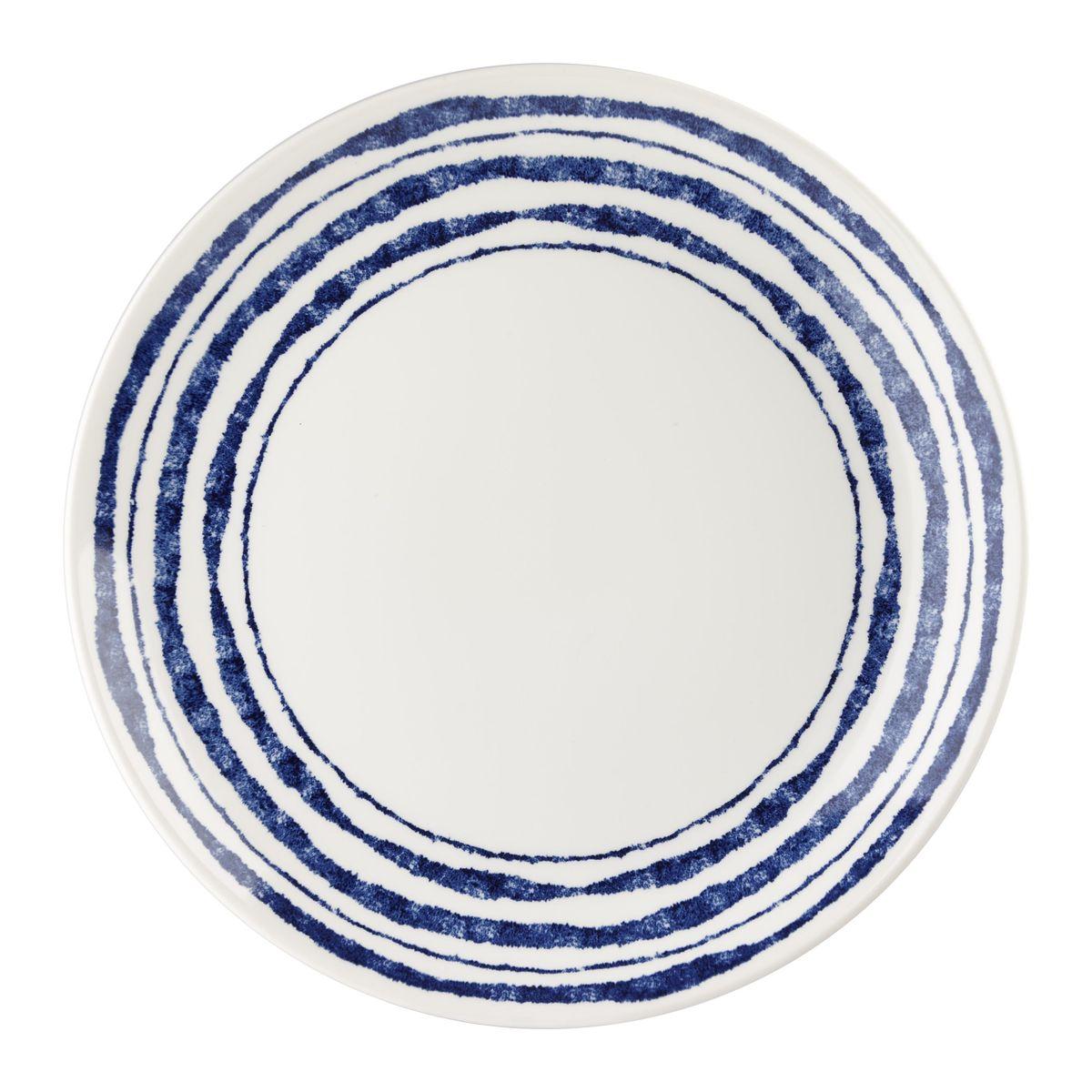 Тарелка Churchill Инки, диаметр 26 см. INKI00011INKI00011Коллекция Сиена отражает Скандинавский стиль. Этот стиль отличается своей простотой и минимализмом, синий орнамент на белоснежном фоне. Материал: фаянс Можно мыть в посудомоечной машине Можно использовать в микроволновой печи