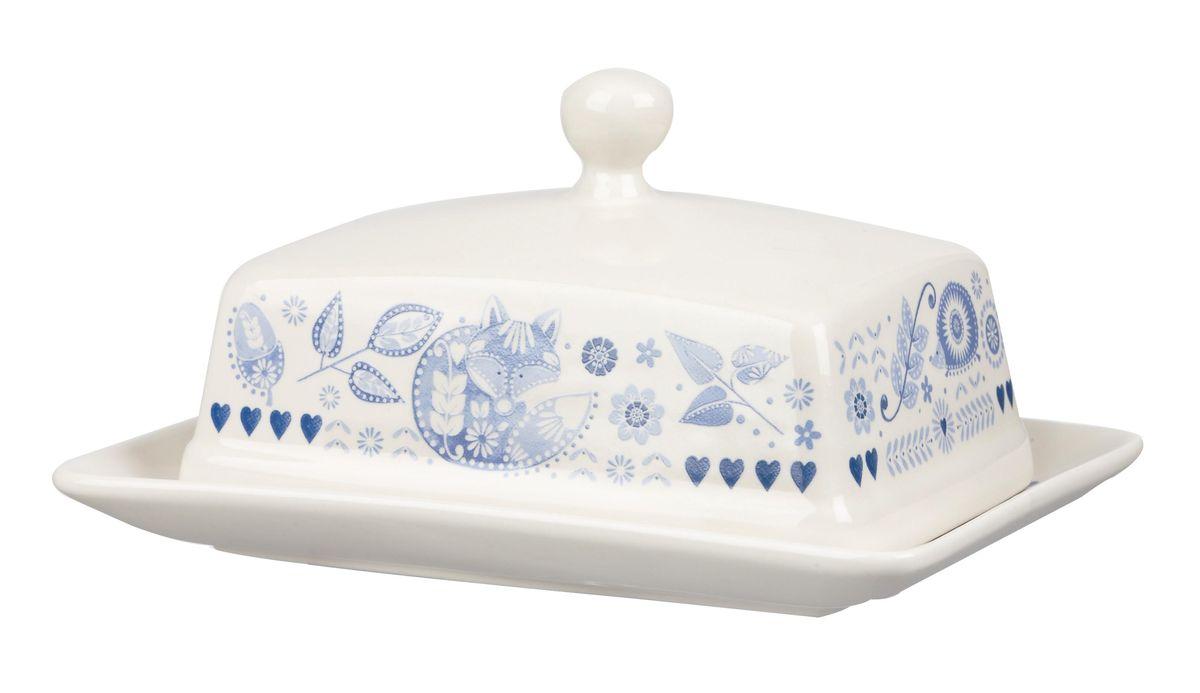 Масленка Churchill ПензансPENZ00071Масленка Churchill Пензанс, выполненная из высококачественной керамики, предназначена для красивой сервировки и хранения масла. Она состоит из подноса и крышки с ручкой, оформленной под гжель. Масло в ней долго остается свежим, а при хранении в холодильнике не впитывает посторонние запахи. Можно мыть в посудомоечной машине и использовать в микроволновой печи. Размер подноса: 17 см х 12,5 см х 1,8 см. Размер крышки: 14 см х 10,5 см х 8 см.