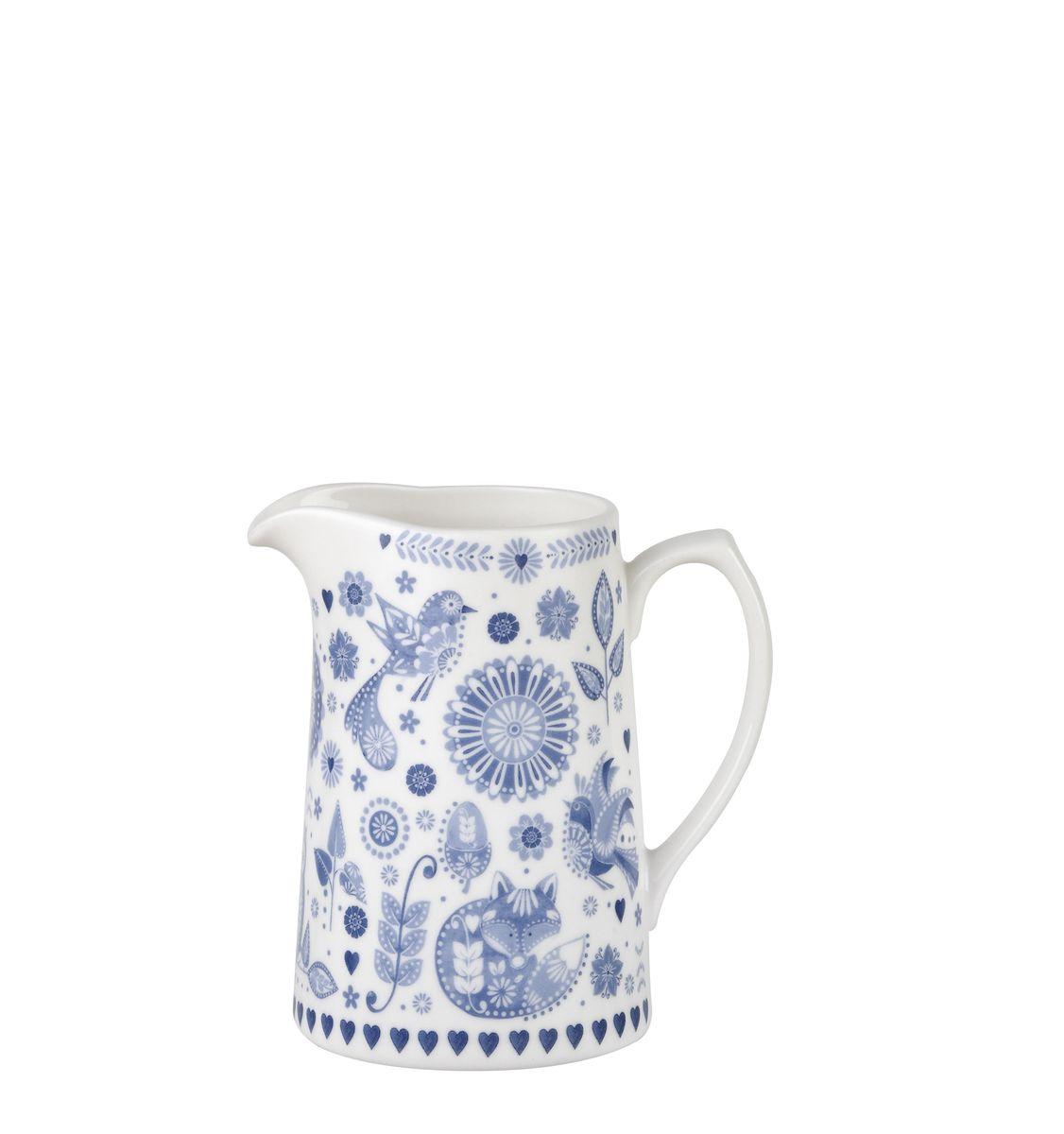 Кувшин Churchill, 230 мл. PENZ00101PENZ00101Коллекция Penzance - классическое сочетание синего и белого с народным дизайном. Материал: фарфор, фаянс, керамика. Можно мыть в посудомоечной машине Можно использовать в микроволновой печи