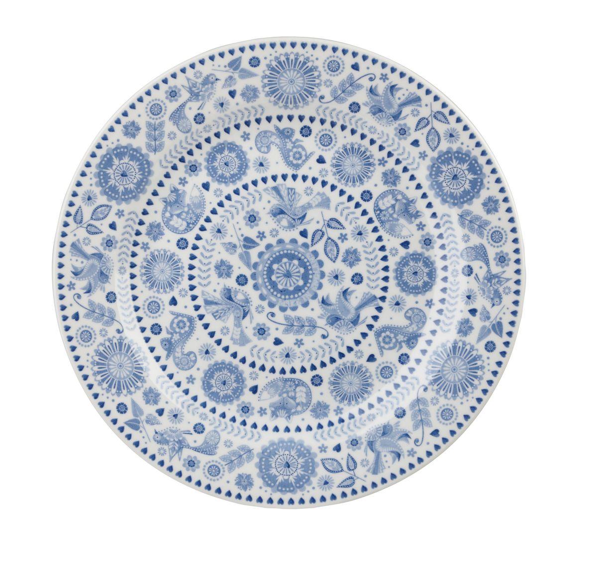 Тарелка десертная Churchill, диаметр 20 см. PENZ00161PENZ00161Коллекция Penzance - классическое сочетание синего и белого с народным дизайном. Материал: фарфор, фаянс, керамика. Можно мыть в посудомоечной машине Можно использовать в микроволновой печи