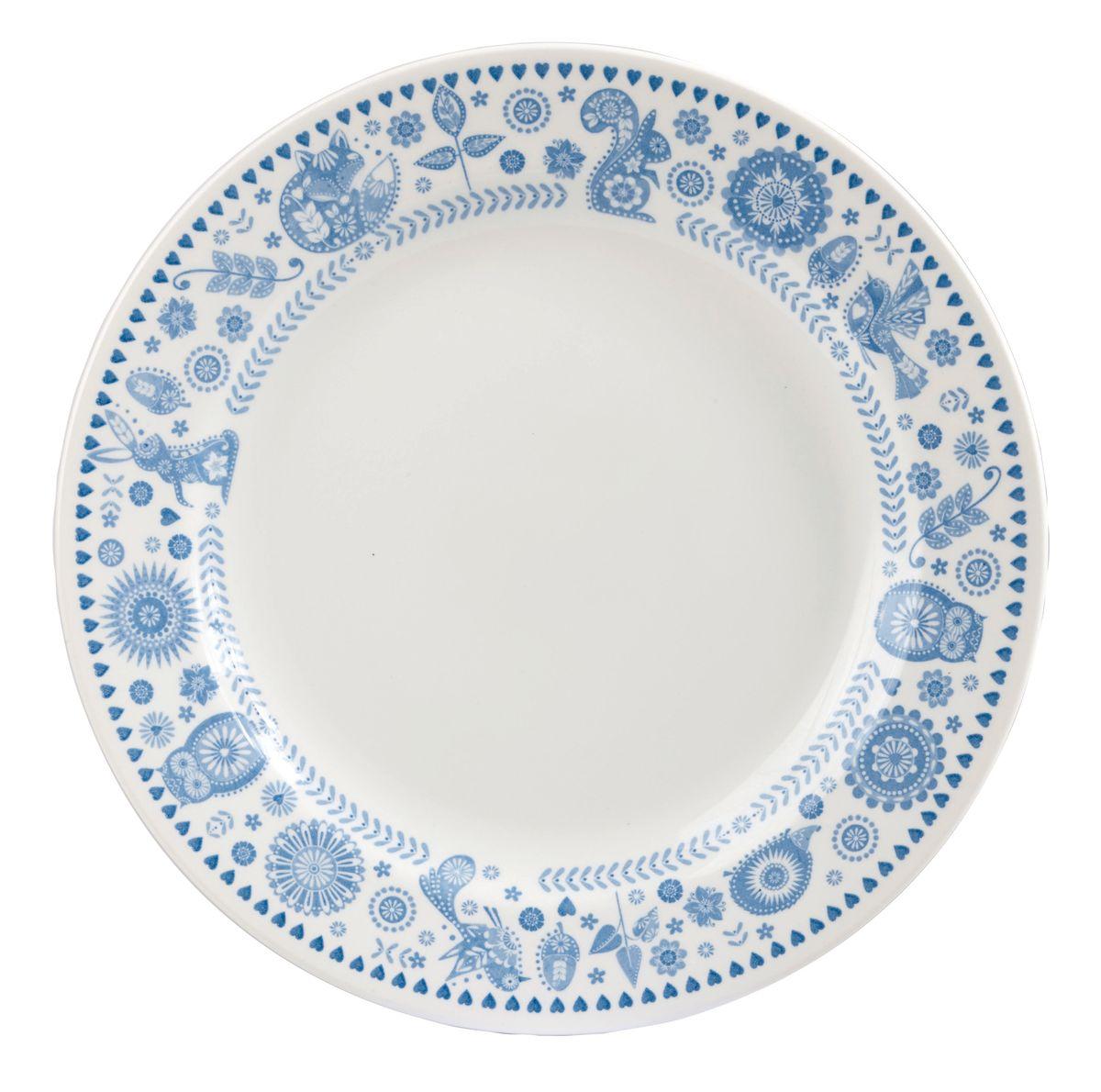 Тарелка обеденная Churchill, диаметр 26 см. PENZ00611PENZ00611Коллекция Penzance - классическое сочетание синего и белого с народным дизайном. Материал: фарфор, фаянс, керамика. Можно мыть в посудомоечной машине Можно использовать в микроволновой печи