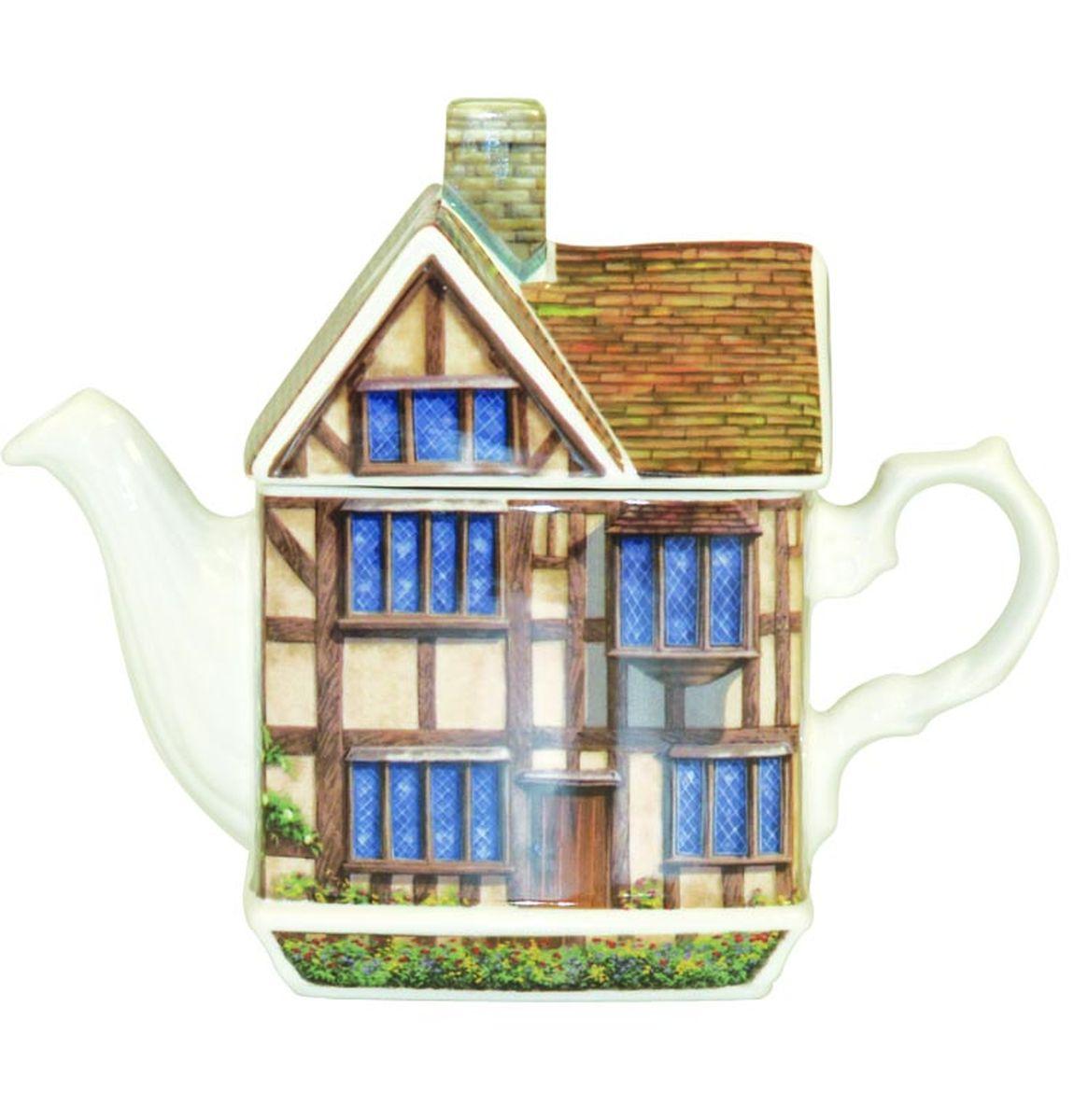 Чайник заварочный Churchill Чайный домик Шекспира, 500 мл. TREN00021TREN00021Джеймс Садлер Джеймс Садлер был основан в 1882 году в Сток-он-Трент, в самом центре фаянсовой промышленности. Данная коллекция наполнена британским наследием, идеальная коллекция для туристов. Коллекция наполнена достопримечательностями Великобритании. Внимание: посуда с позолоченным орнаментом запрещена для использования в микроволновой печи, т.к. металлическая позолота может привести к искрообразованию в камере микроволновой печи.
