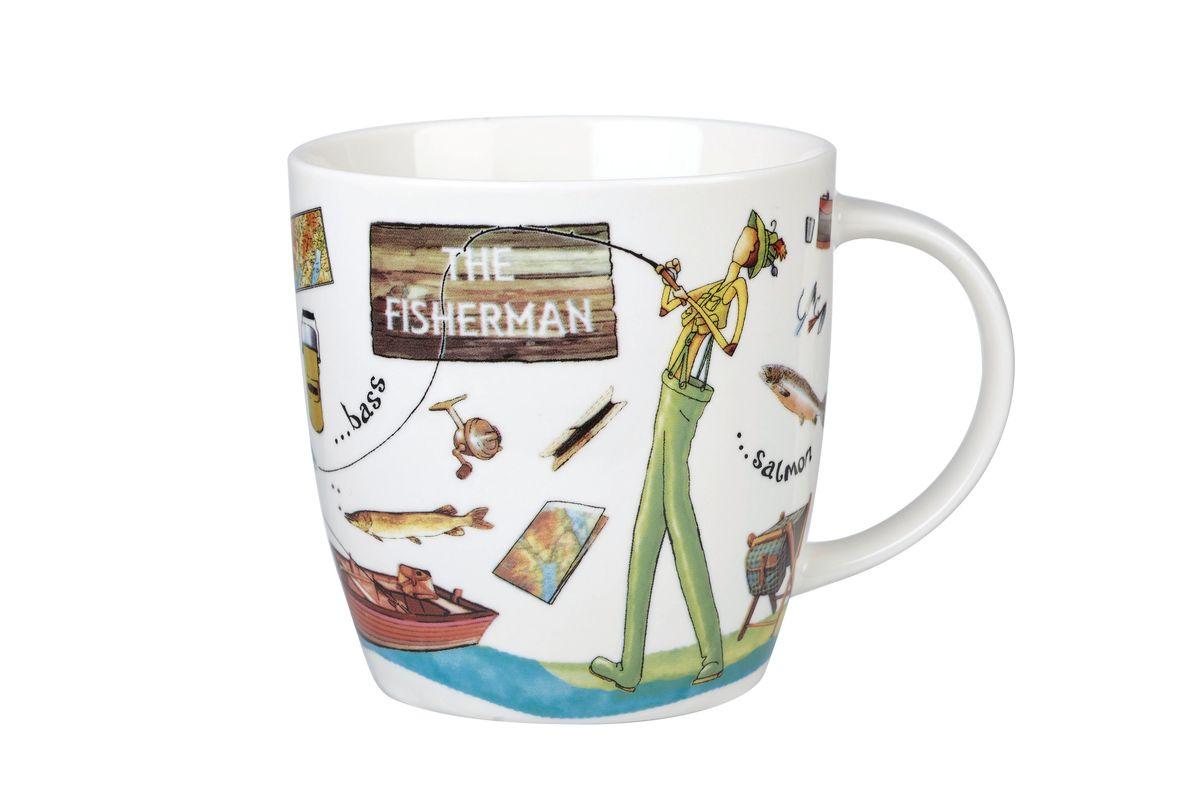 Кружка Churchill Рыбак, 400 мл. YOUR00081YOUR00081Коллекция На досуге призывает наслаждаться любимыми делами, например, заняться спортом. Коллекция отличается причудливыми и весёлыми рисунками, оригинальной подарочной упаковкой. Материал: фарфор Можно мыть в посудомоечной машине Можно использовать в микроволновой печи