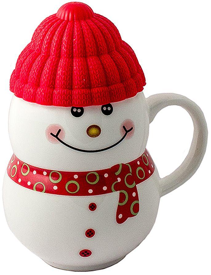 Кружка-снеговик Эврика Растопи лед, цвет: красный96955Порадовать близкого человека, растопить холод в отношениях, заставить его улыбнуться поможет кружка в виде симпатичного снеговичка, если наполнить её горячим напитком и преподнести любимому. Силиконовая шапочка выполняет роль крышки и предохраняет напиток от остывания. Милая нарисованная мордашка и цветной шарфик делают образ завершенным.