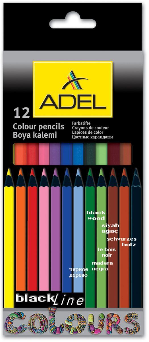 Adel Набор цветных карандашей Blackline 12 цветов 211-2312-000