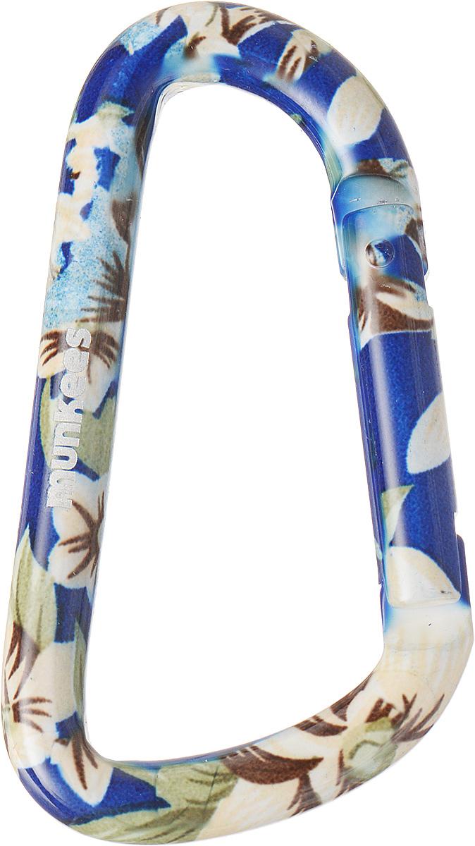 Карабин Munkees Голубой цветок, толщина 8 мм, длина 80 мм3324Карабин Munkees Голубой цветок предназначен не для скалолазания и альпинизма. Он рассчитан на существенно малые веса. Но он позволит упростить быт любого человека во всех случаях жизни. От элементарного подвешивания связки ключей на пояс, шлевку брюк/штанов, в рюкзак на место для крепления ключей или за любой кант кармана, до размещения подручных предметов, легкого снаряжения, одежды и аксессуаров (особенно перчаток и кепок) на рюкзак, сумку и тот же пояс. Выполнен карабин из прочного алюминия. Толщина карабина: 8 мм. Длина карабина: 8 см.